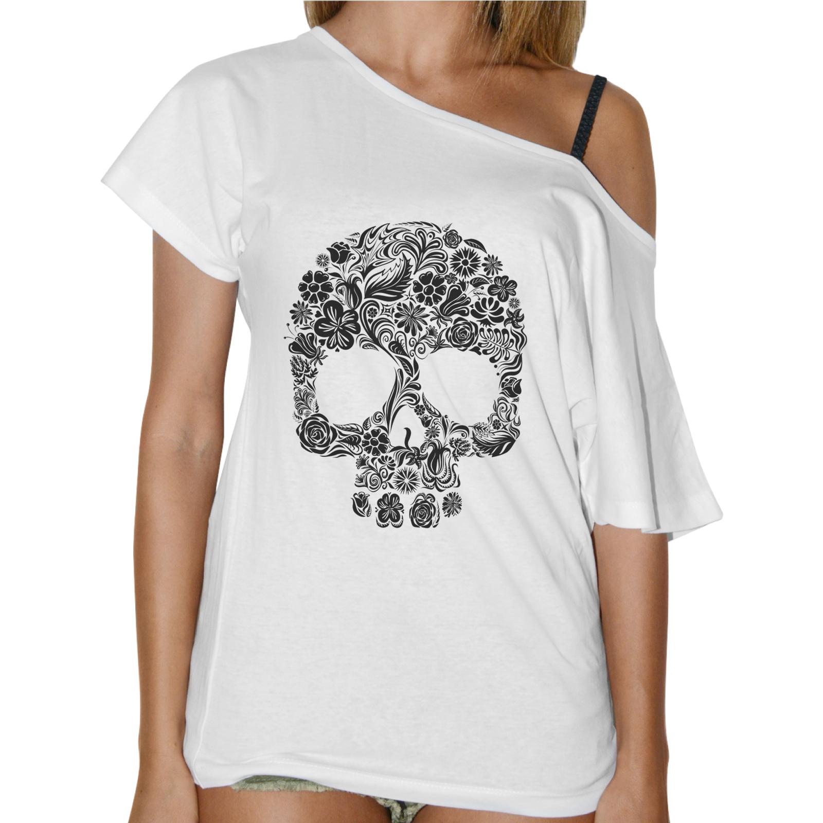T-Shirt Donna Collo Barca TESCHIO FIORI