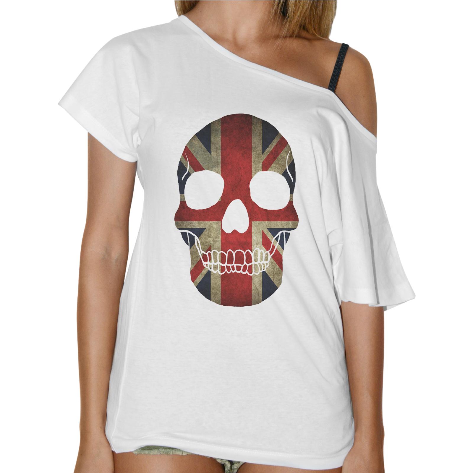 T-Shirt Donna Collo Barca TESCHIO BANDIERA UK