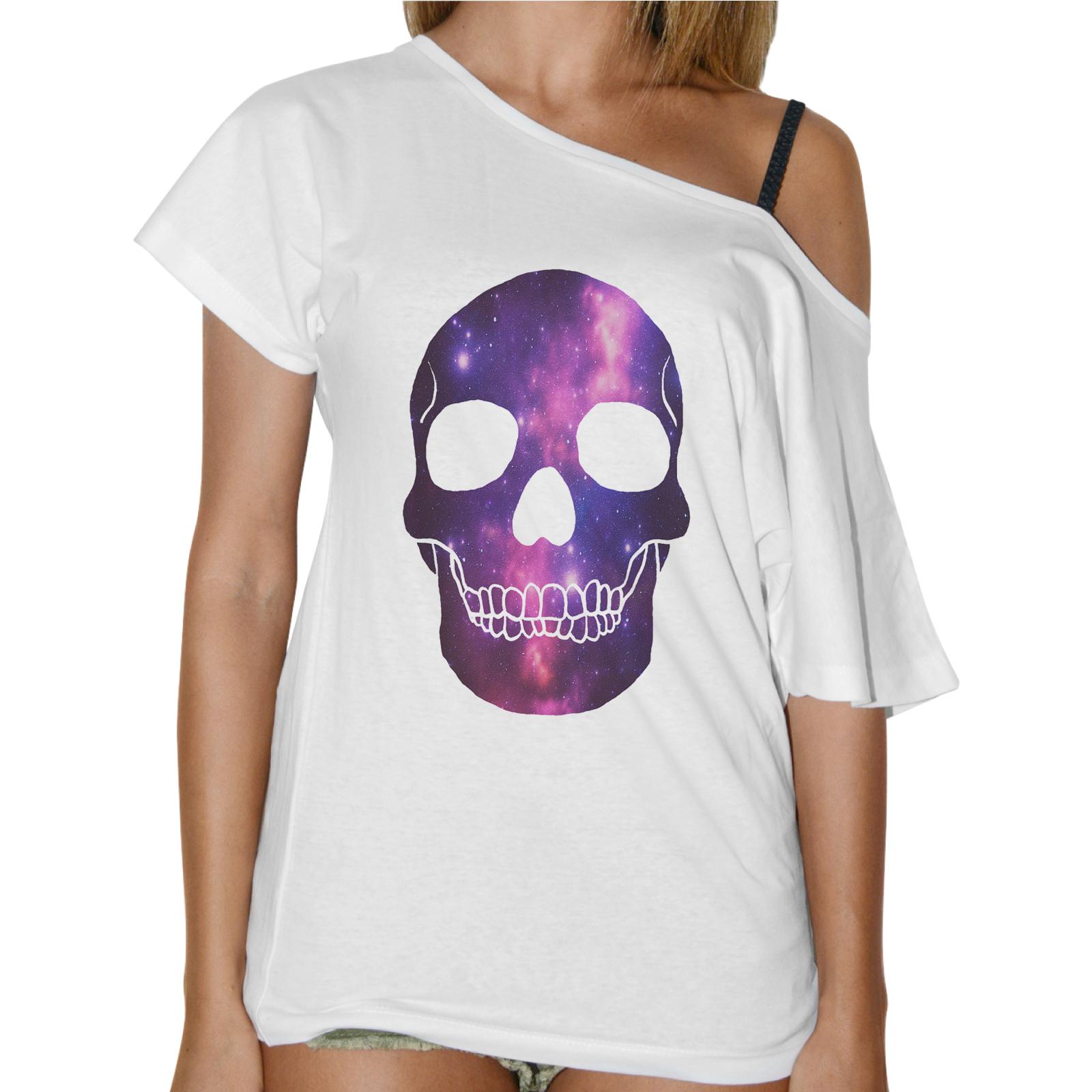 T-Shirt Donna Collo Barca SKULL GALAXY