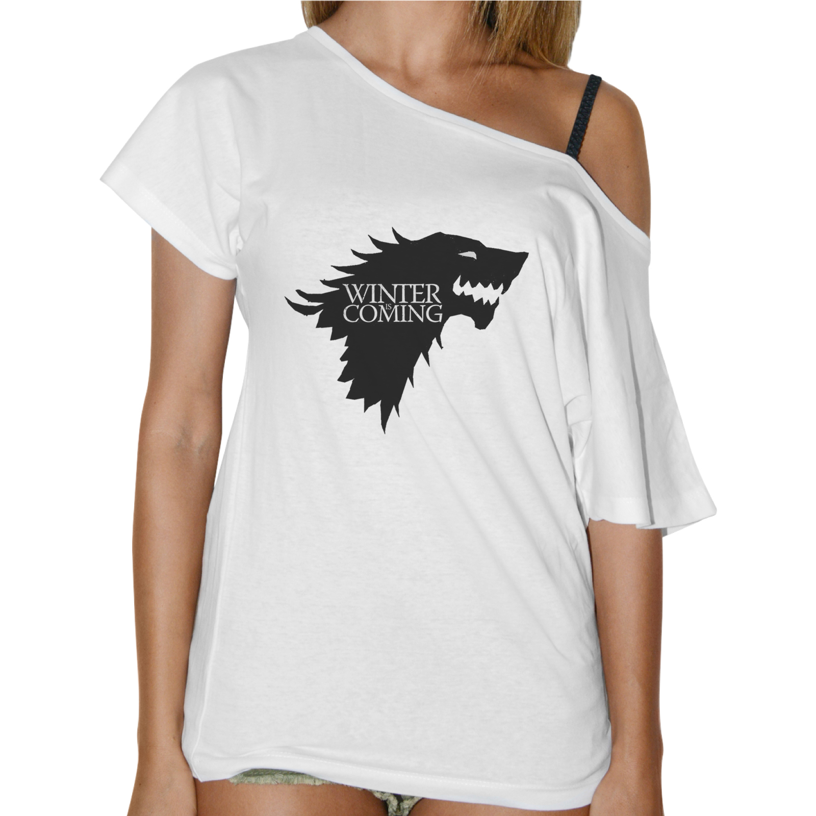 T-Shirt Donna Collo Barca WINTER IS COMING