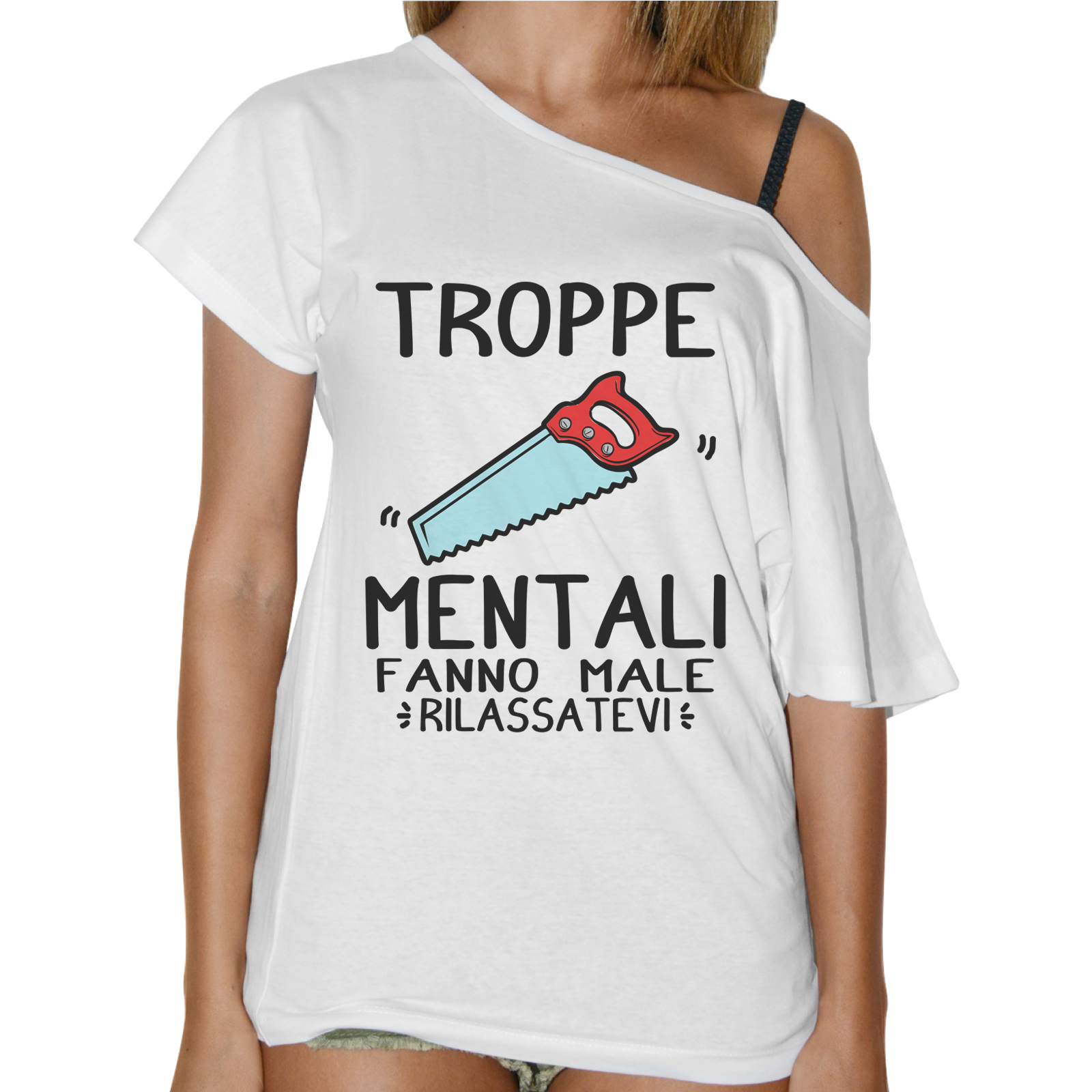 T-Shirt Donna Collo Barca TROPPE SEGHE MENTALI