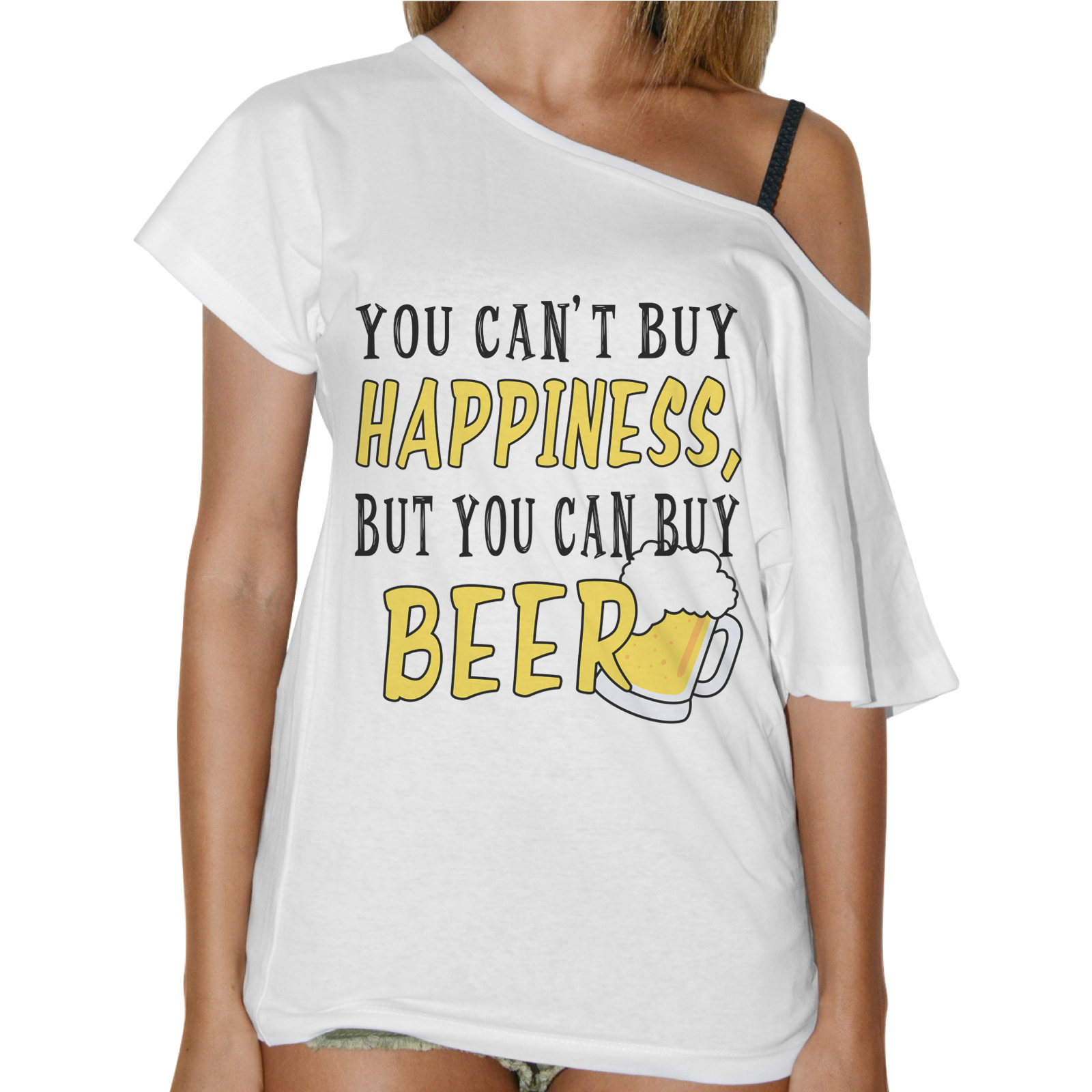 T-Shirt Donna Collo Barca YOU CAN BUY BEER