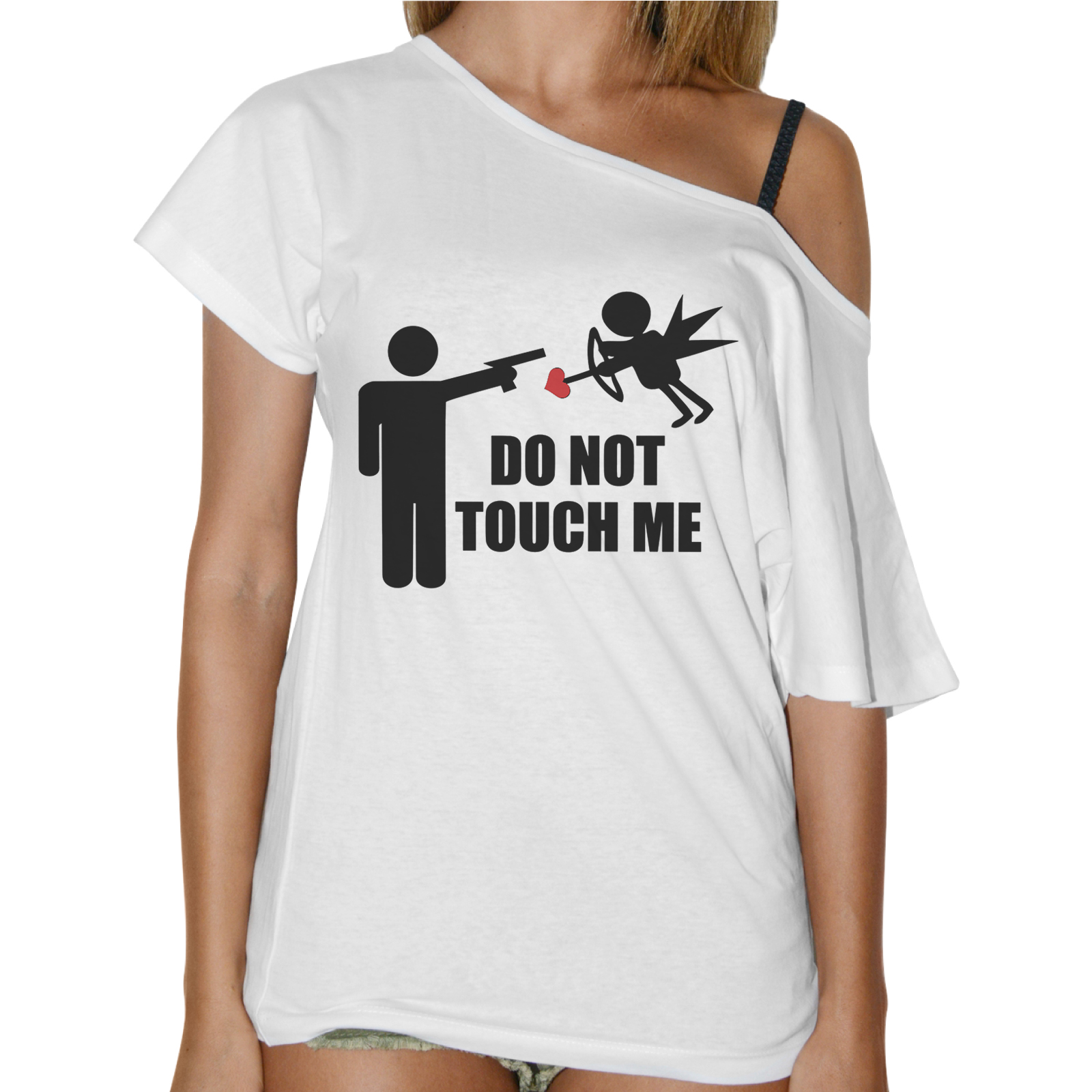 T-Shirt Donna Collo Barca DO NOT TOUCH ME 1