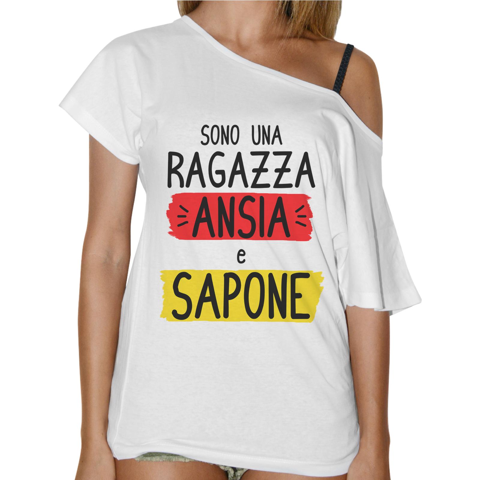 T-Shirt Donna Collo Barca ANSIA E SAPONE