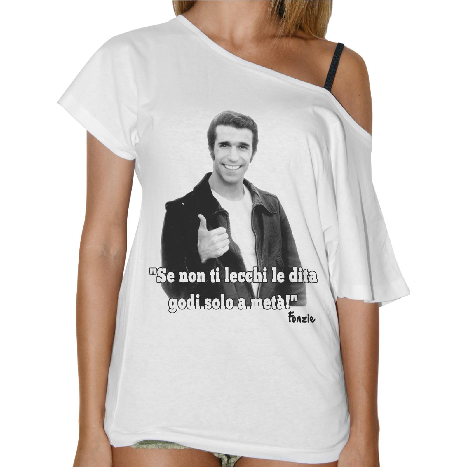 T-Shirt Donna Collo Barca SE NON TI LECCHI LE DITA