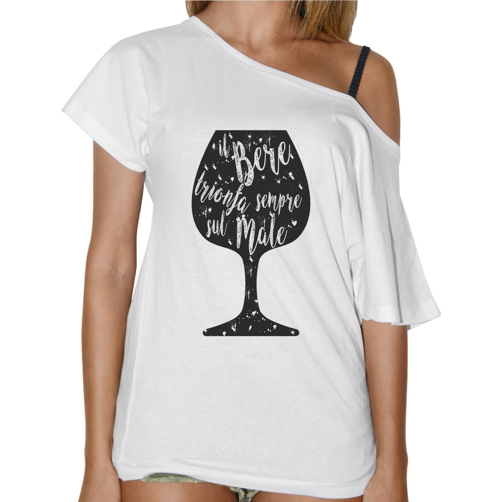 T-Shirt Donna Collo Barca IL BERE TRIONFA
