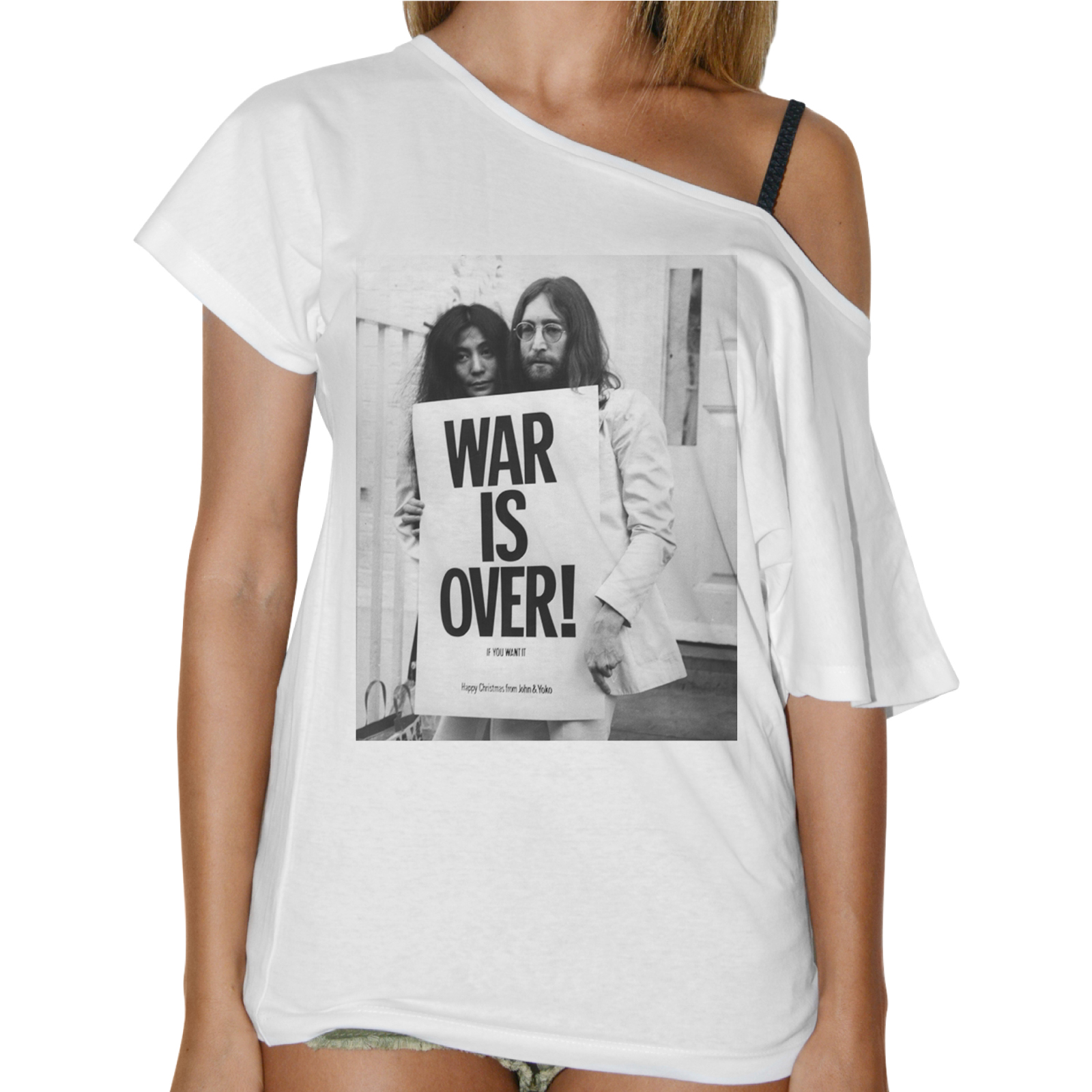 T-Shirt Donna Collo Barca WAR IS OVER 1