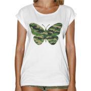 T-Shirt Donna Fashion FARFALLA MILITARE