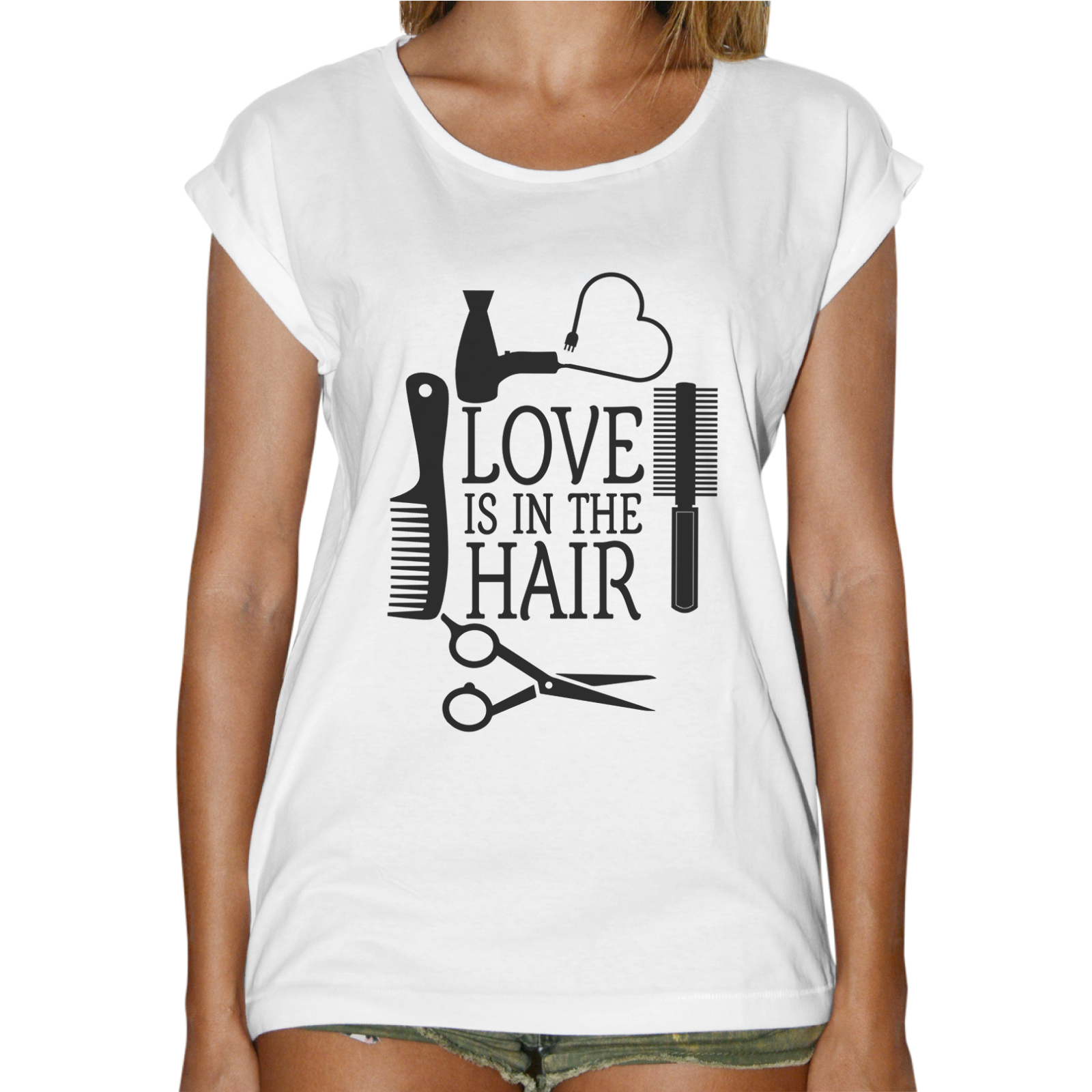 T-Shirt Donna Fashion LOVE IN THE HAIR