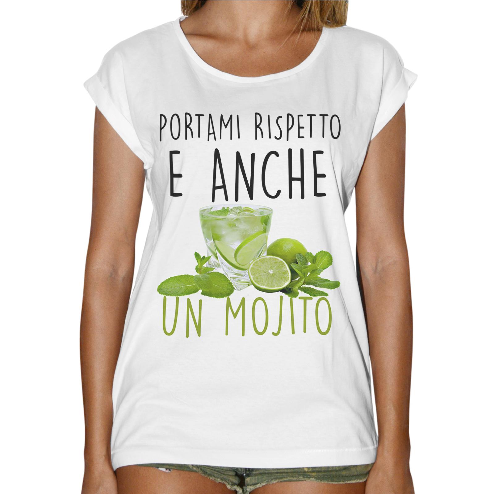 T-Shirt Donna Fashion RISPETTO E MOJITO