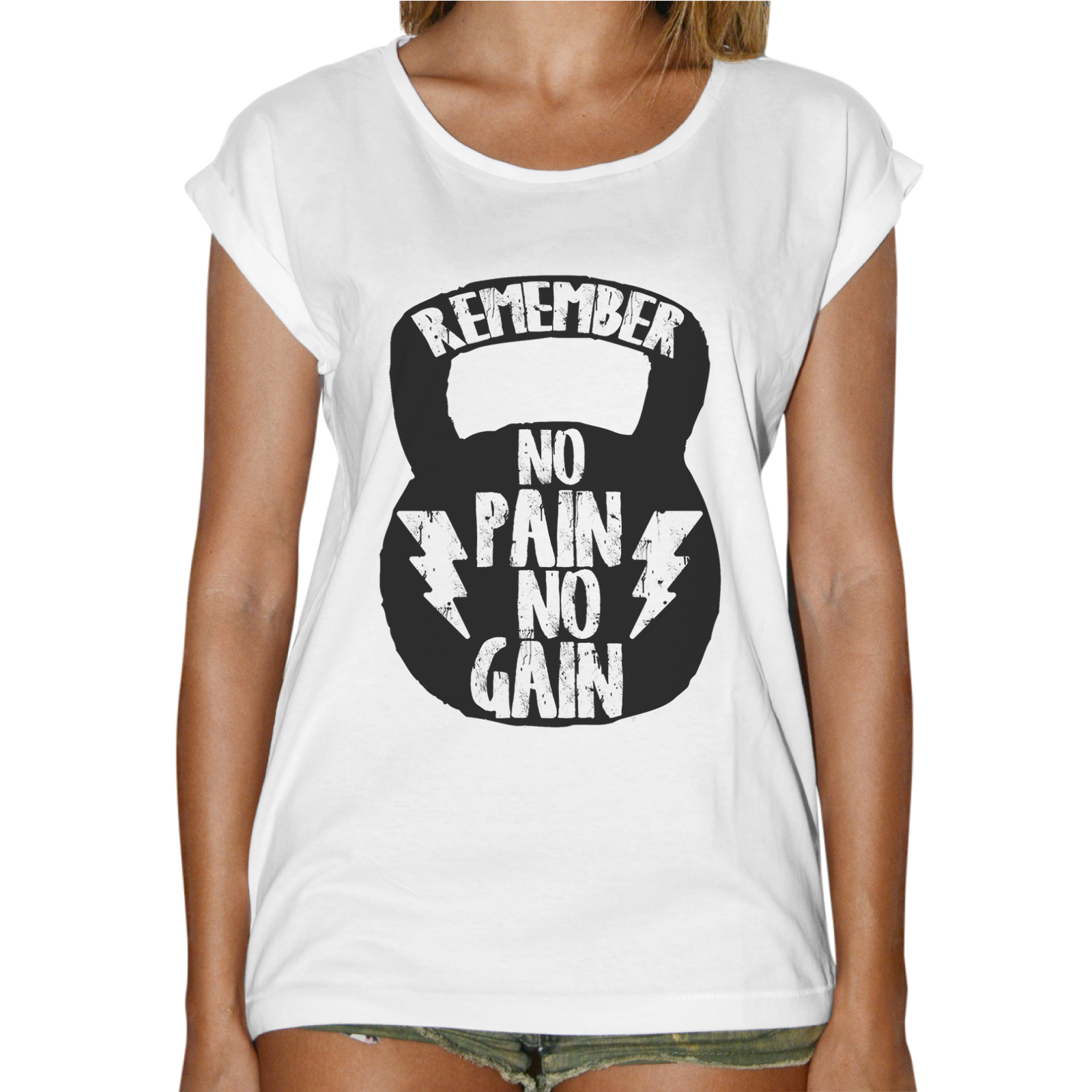 T-Shirt Donna Fashion NO PAIN NO GAIN