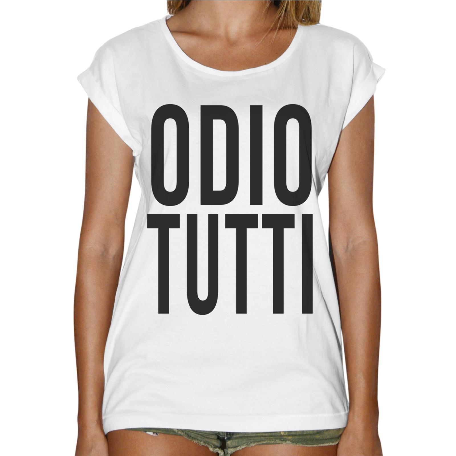 T-Shirt Donna Fashion ODIO TUTTI 1