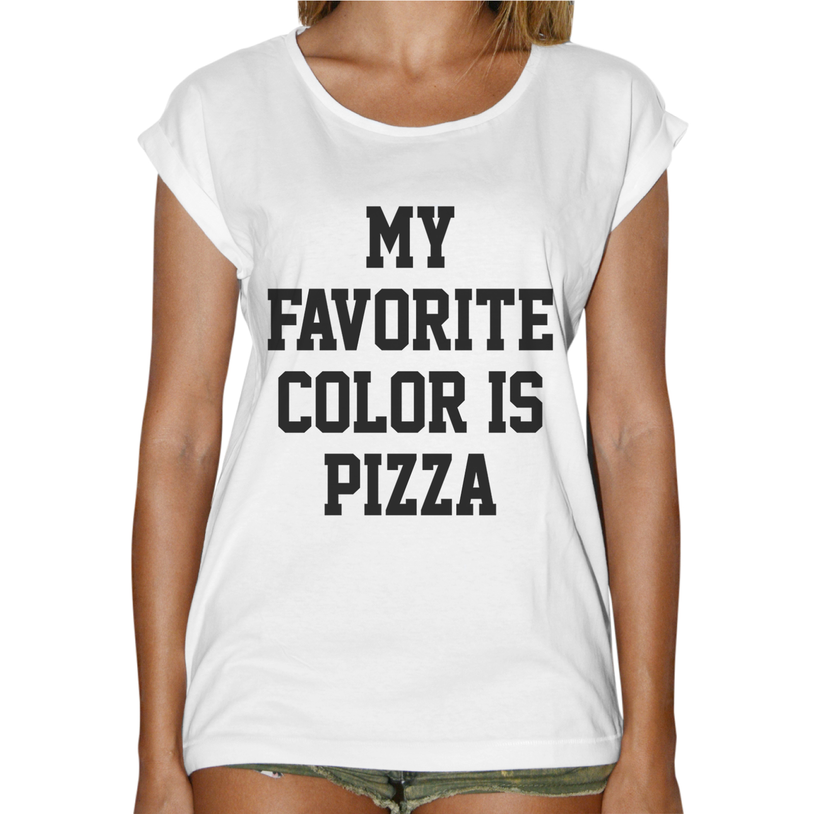 T-Shirt Donna Fashion COLOR PIZZA