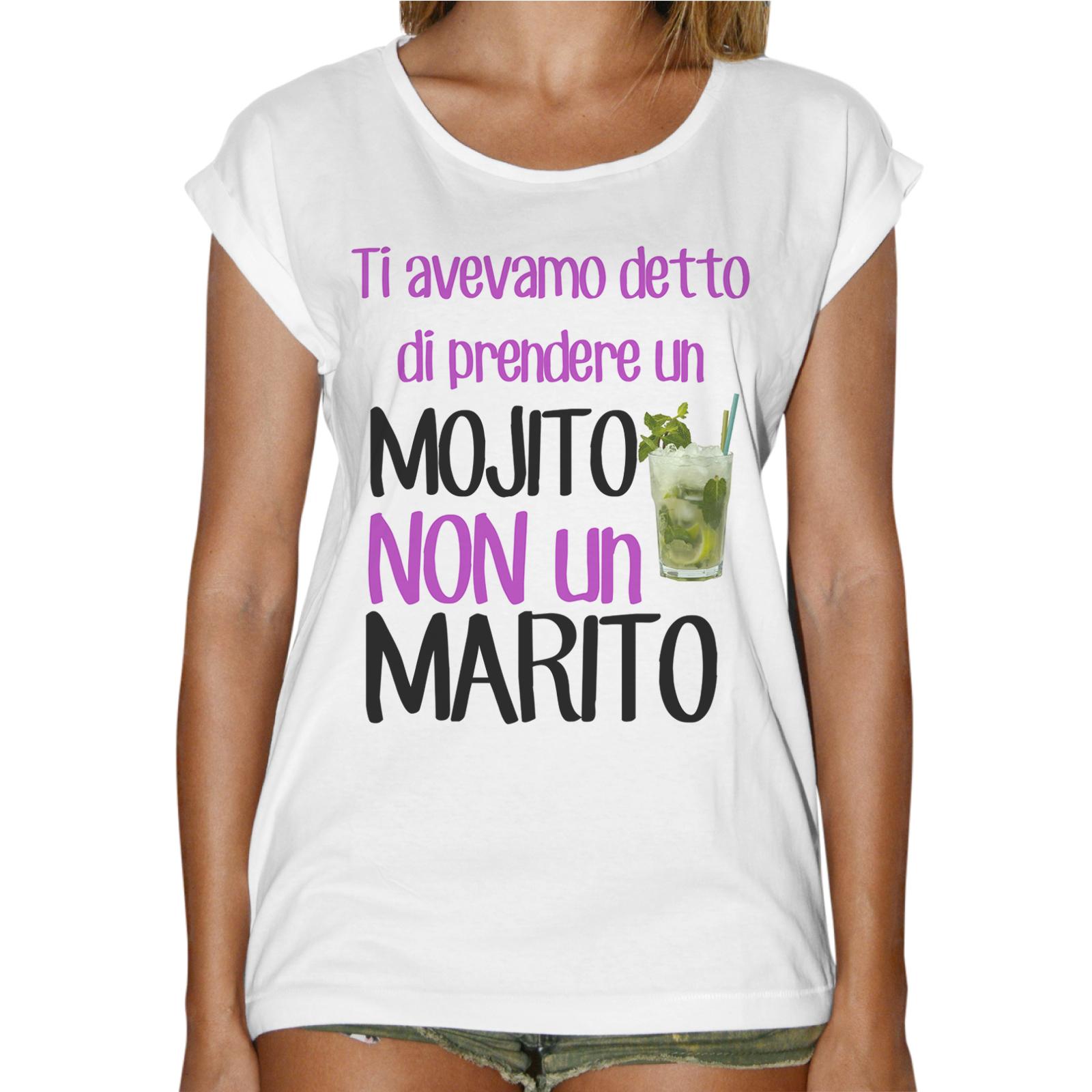 T-Shirt Donna Fashion MOJITO NO MARITO