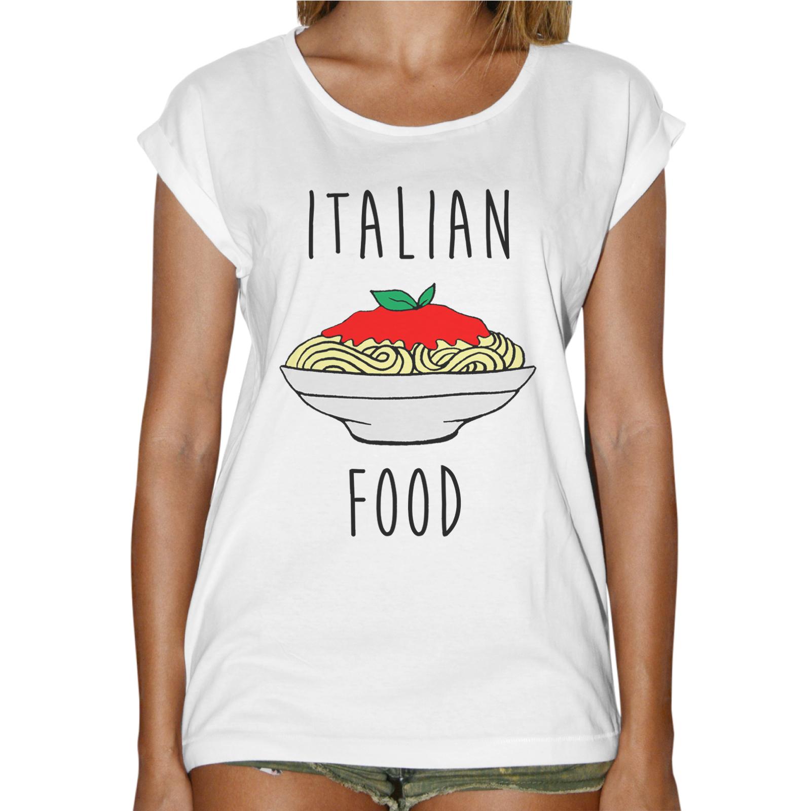 T-Shirt Donna Fashion ITALIAN FOOD
