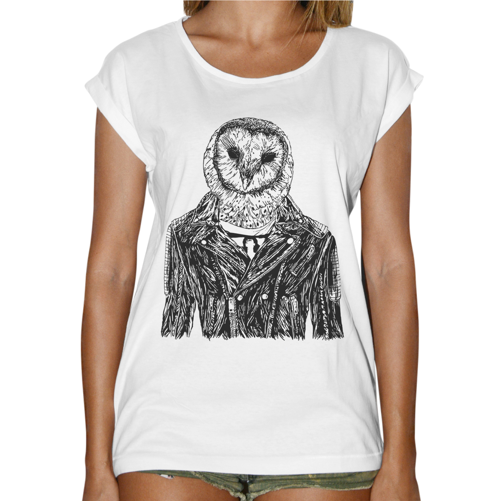 T-Shirt Donna Fashion GUFO GIACCA PELLE
