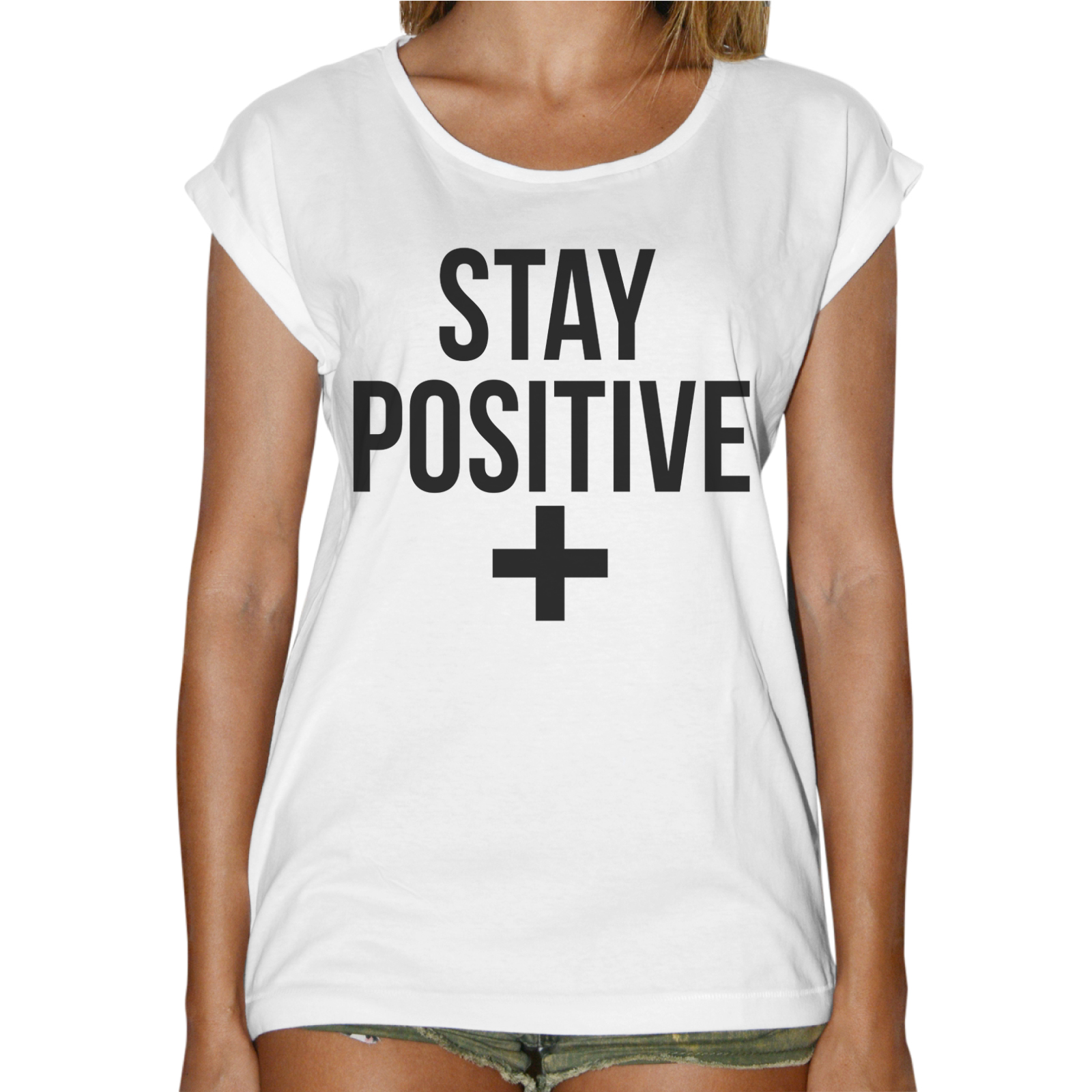 T-Shirt Donna Fashion STAY POSITIVE