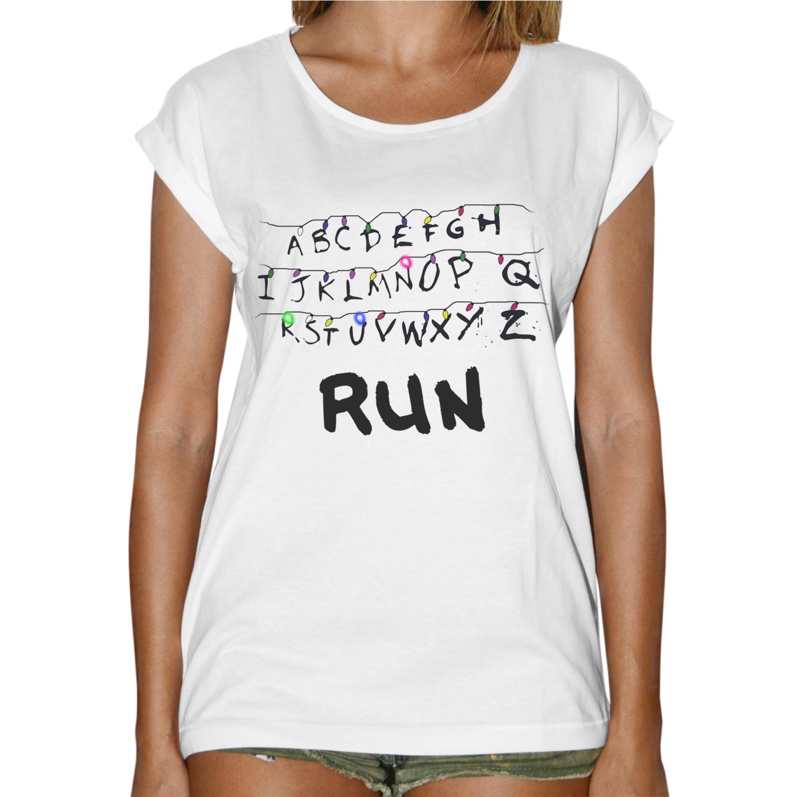 T-Shirt Donna Fashion RUN STRANGER THINGS
