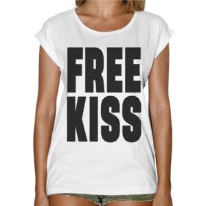 T-Shirt Donna Fashion FREE KISS