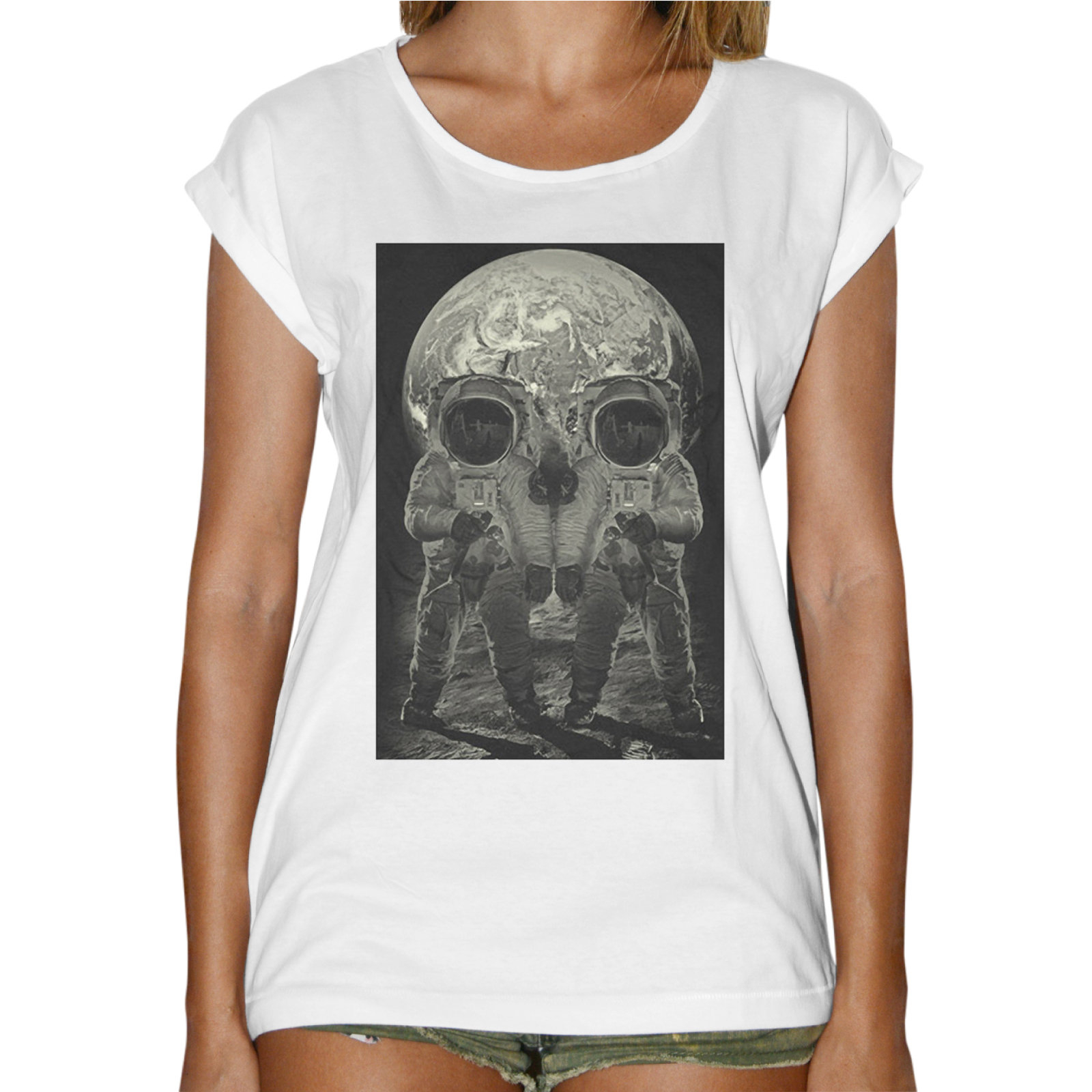 T-Shirt Donna Fashion SKULL MOON