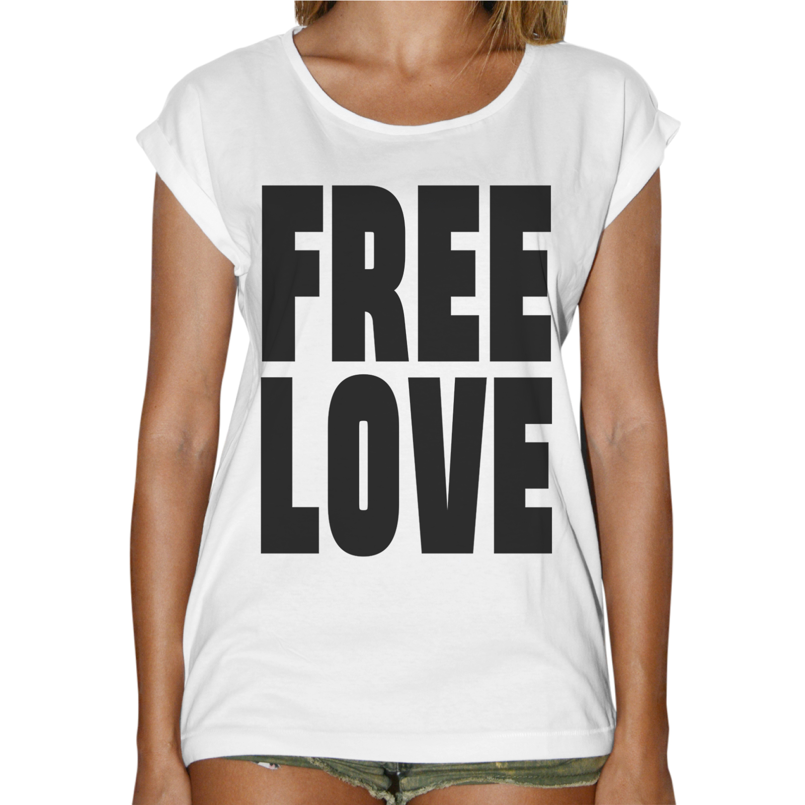 T-Shirt Donna Fashion FREE LOVE 1