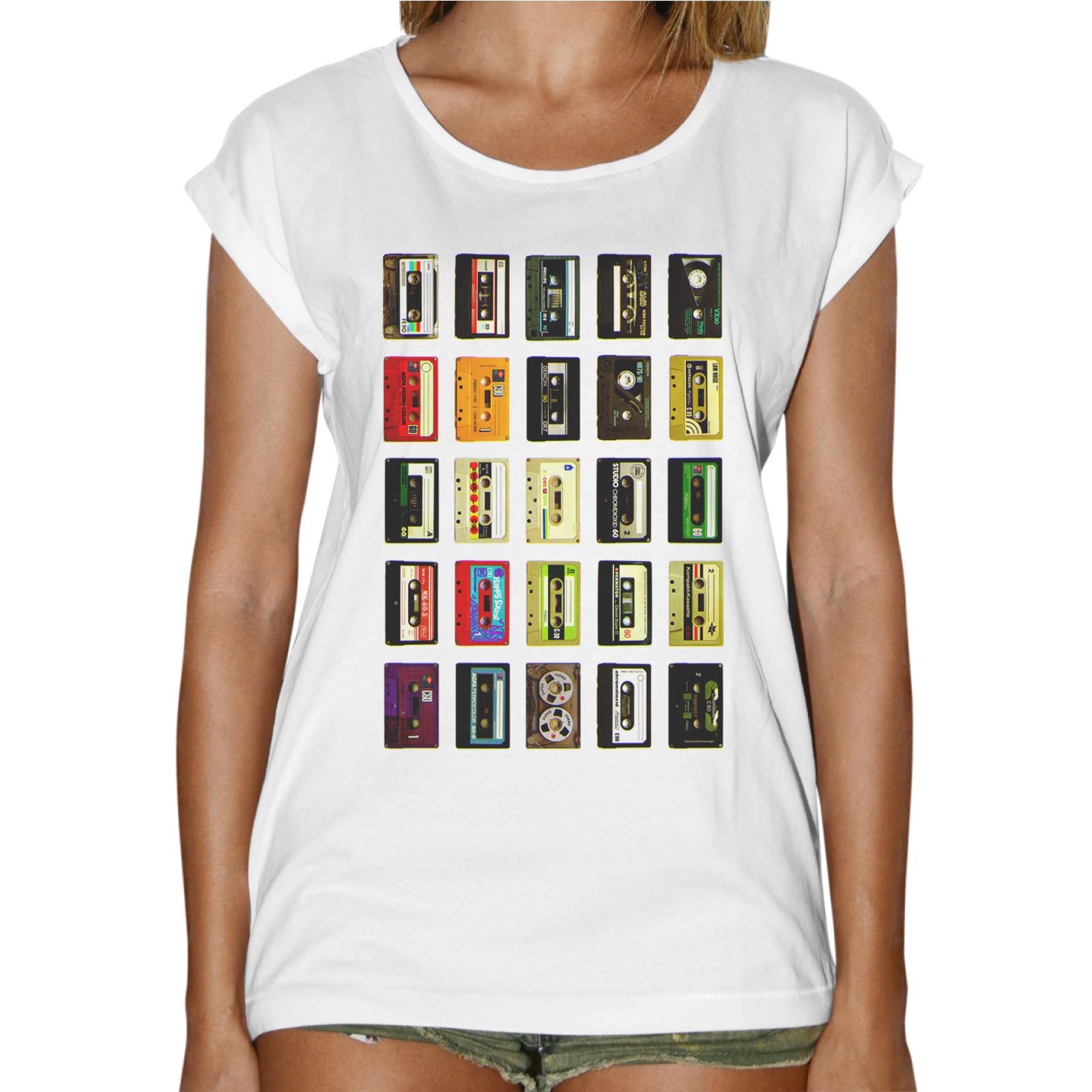 T-Shirt Donna Fashion CASSETTE MULTICOLOR 1