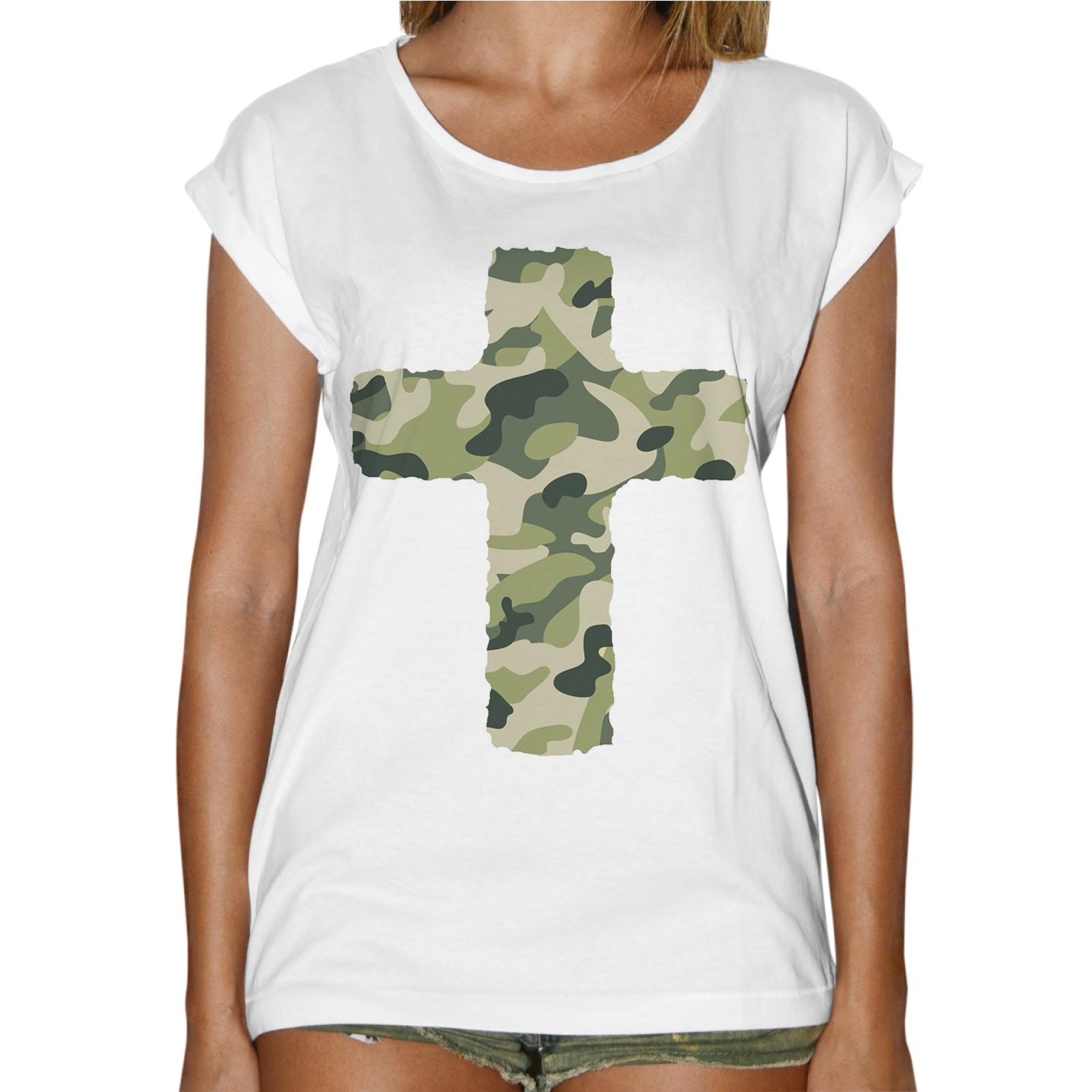 T-Shirt Donna Fashion CROCE MILITARE