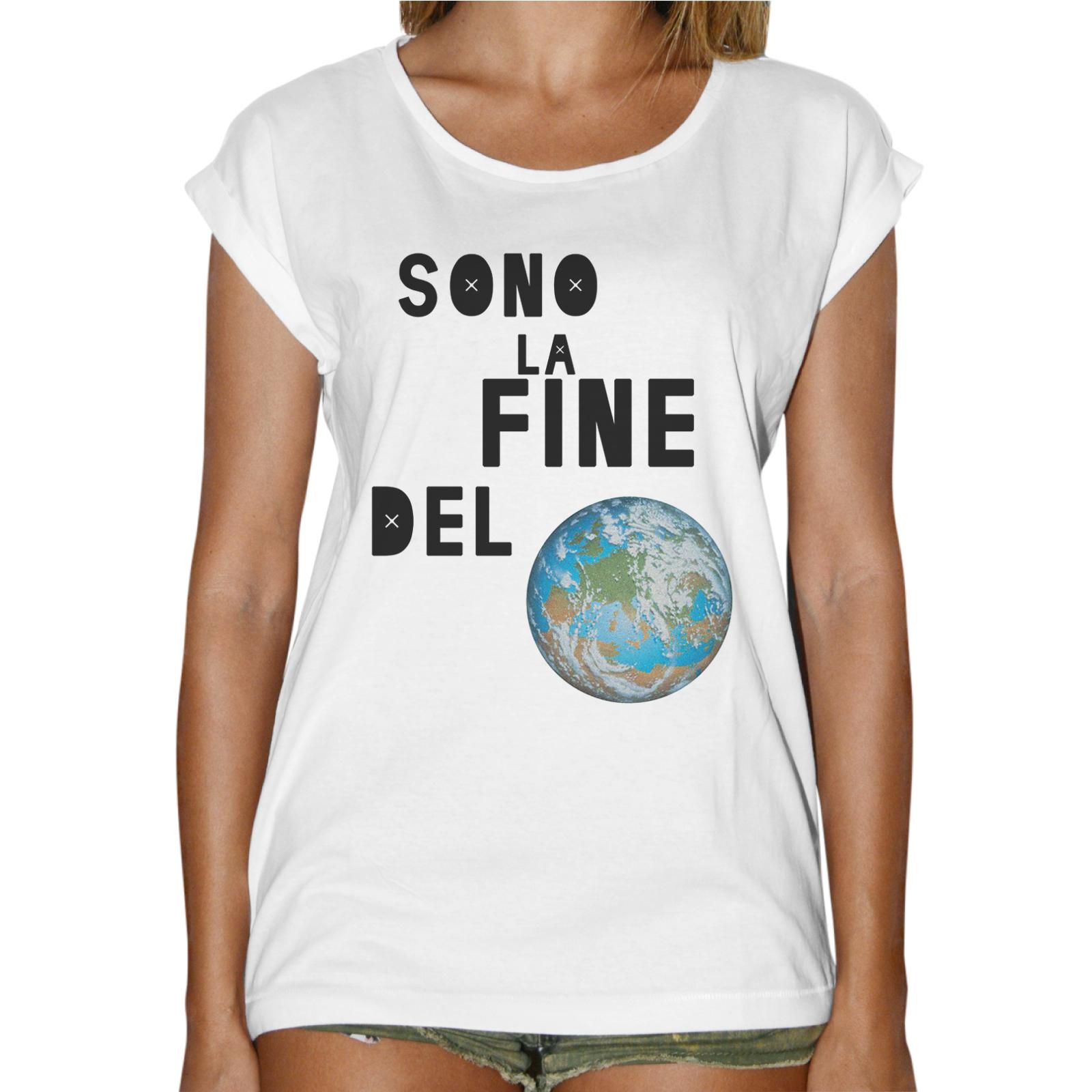 T-Shirt Donna Fashion SONO LA FINE DEL MONDO