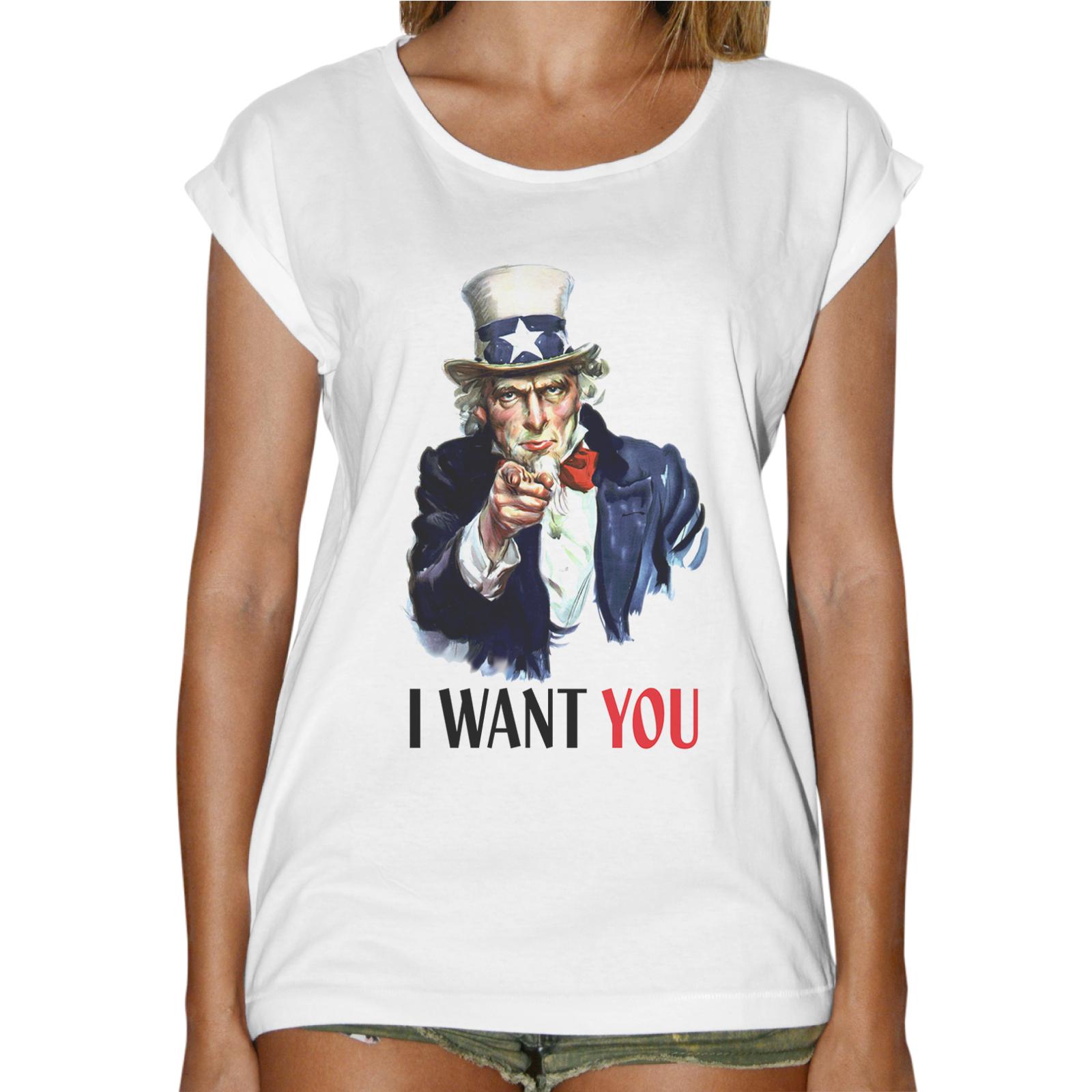 T-Shirt Donna Fashion I WANT YOU