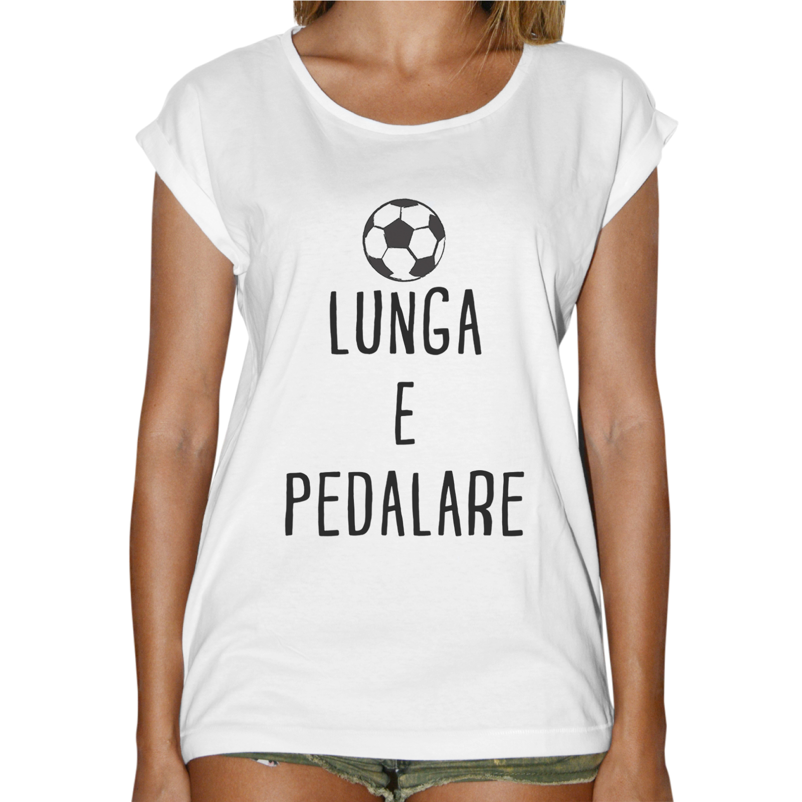 T-Shirt Donna Fashion PALLA LUNGA E PEDALARE