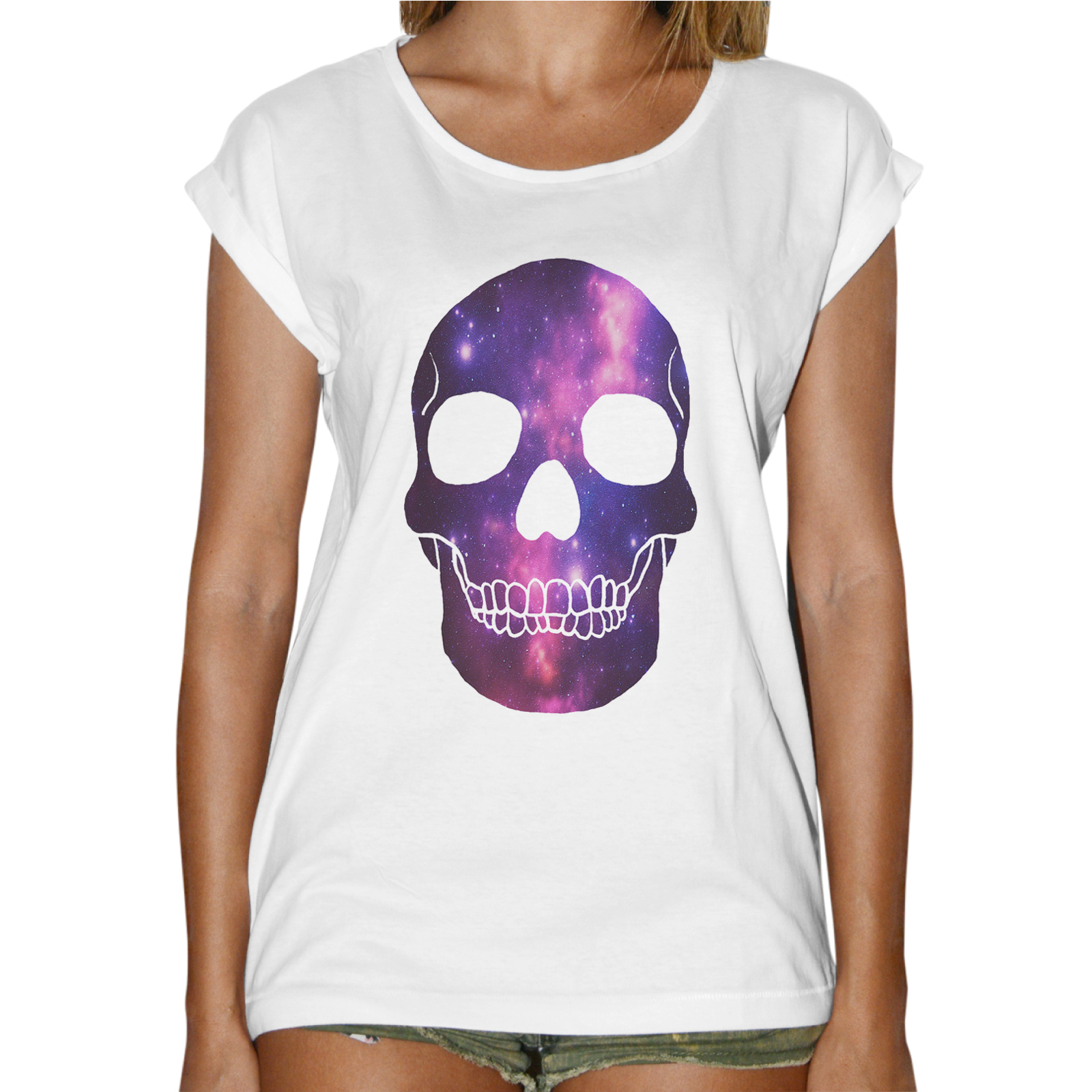 T-Shirt Donna Fashion SKULL GALAXY