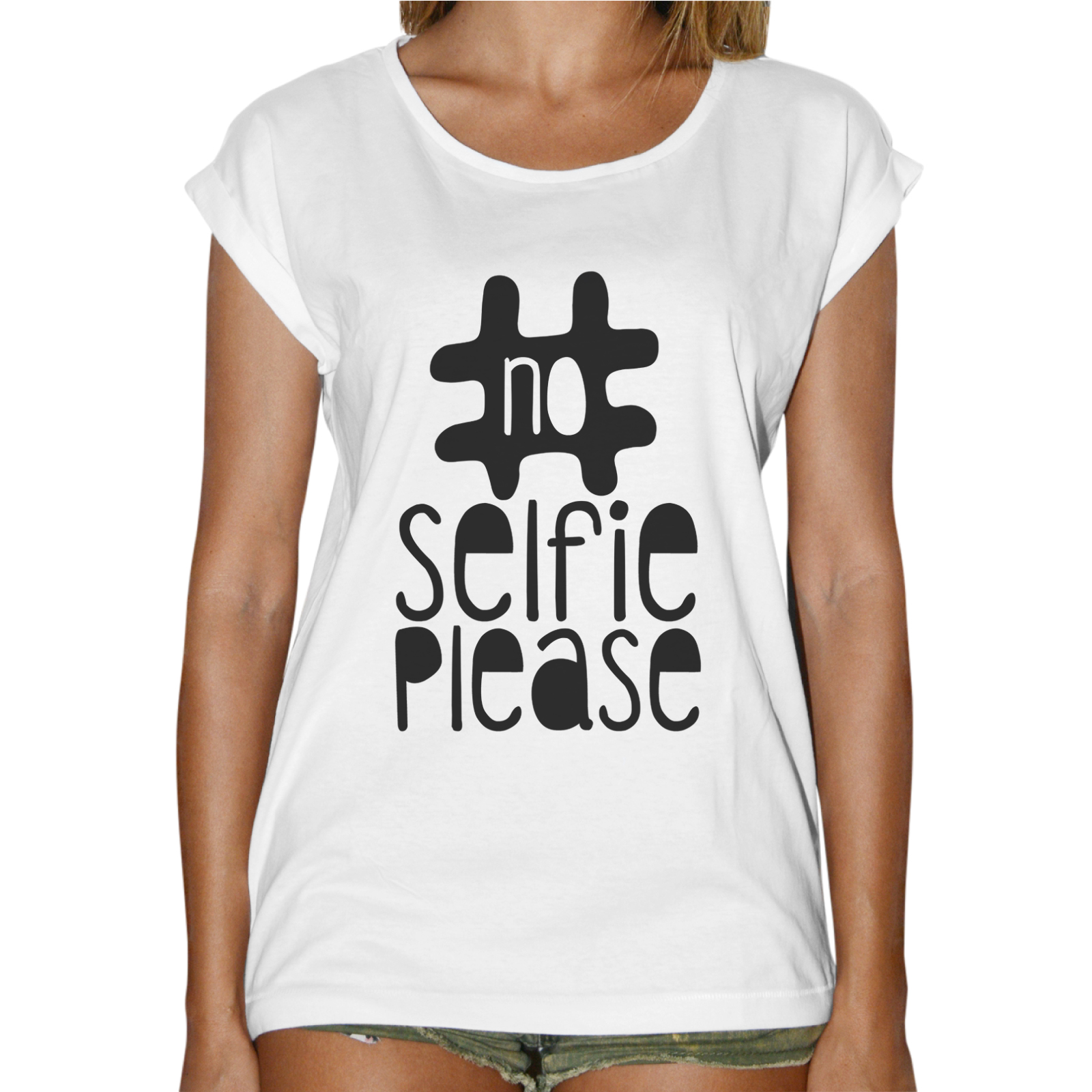 T-Shirt Donna Fashion NO SELFIE PLEASE