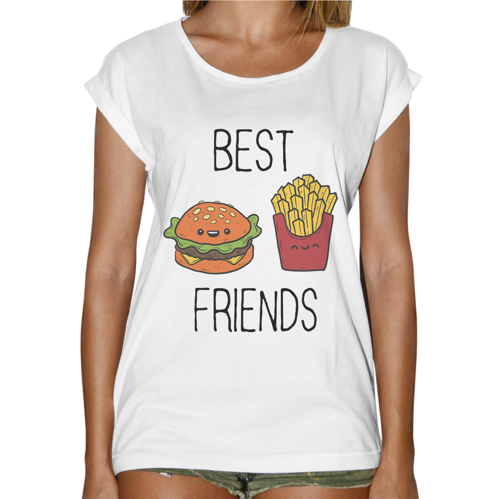 T-Shirt Donna Fashion BEST FRIEND MENU