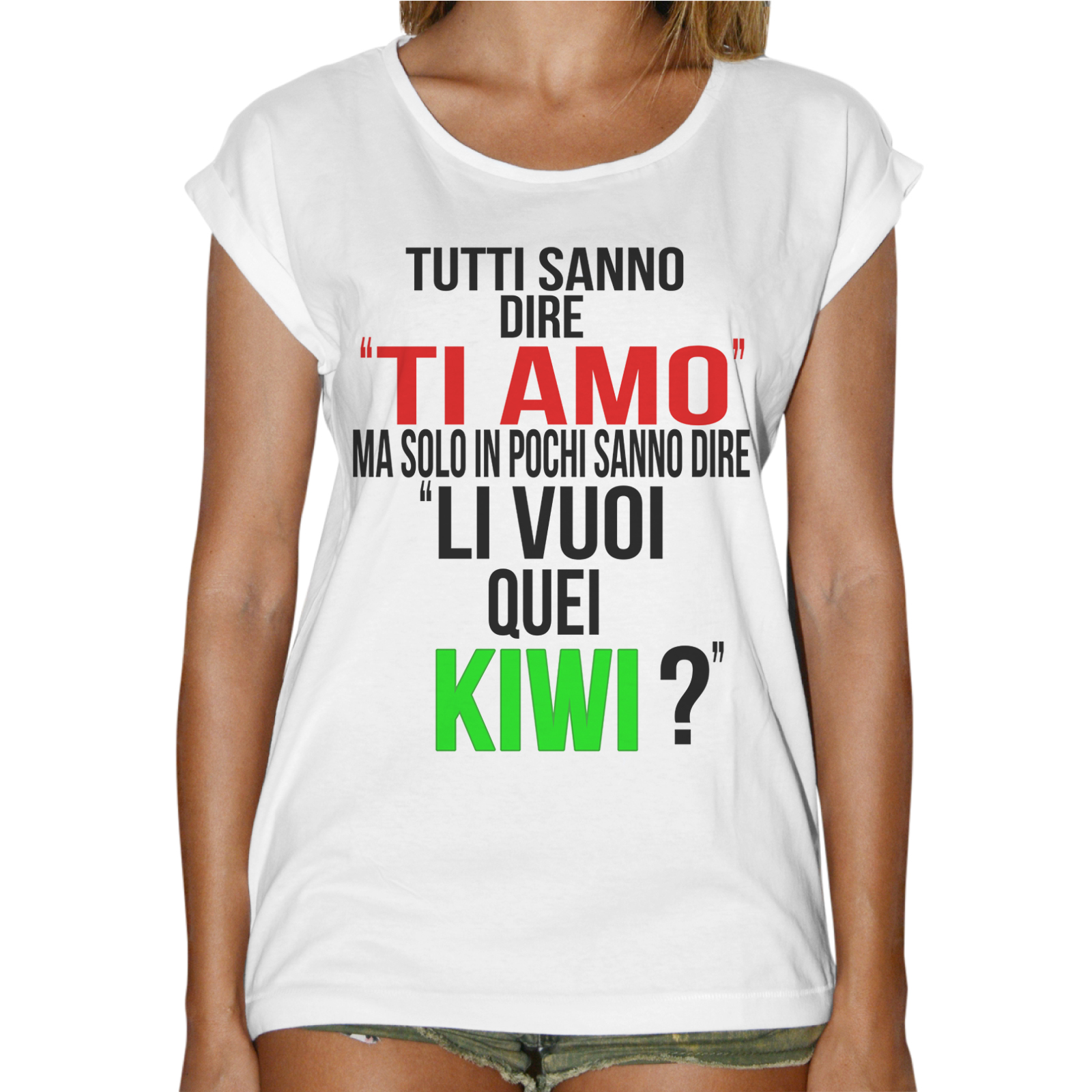 T-Shirt Donna Fashion LI VUOI QUEI KIWI