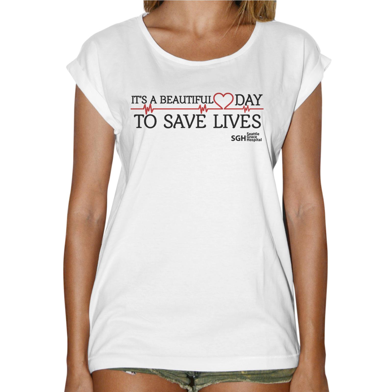 T-Shirt Donna Fashion BEAUTIFUL DAY GREY'S ANATOMY 1