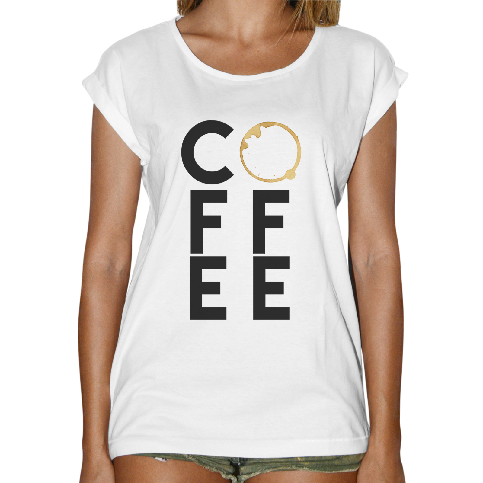 T-Shirt Donna Fashion COFFEE