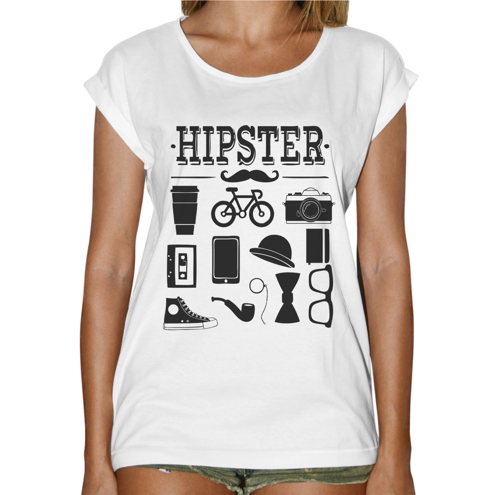 T-Shirt Donna Fashion HIPSTER GADGET