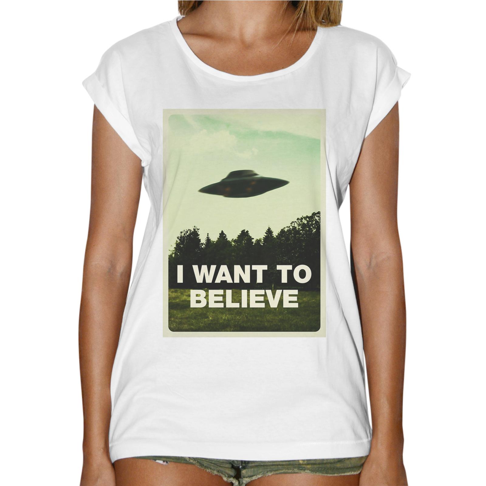 T-Shirt Donna Fashion I WANT BELIEVE