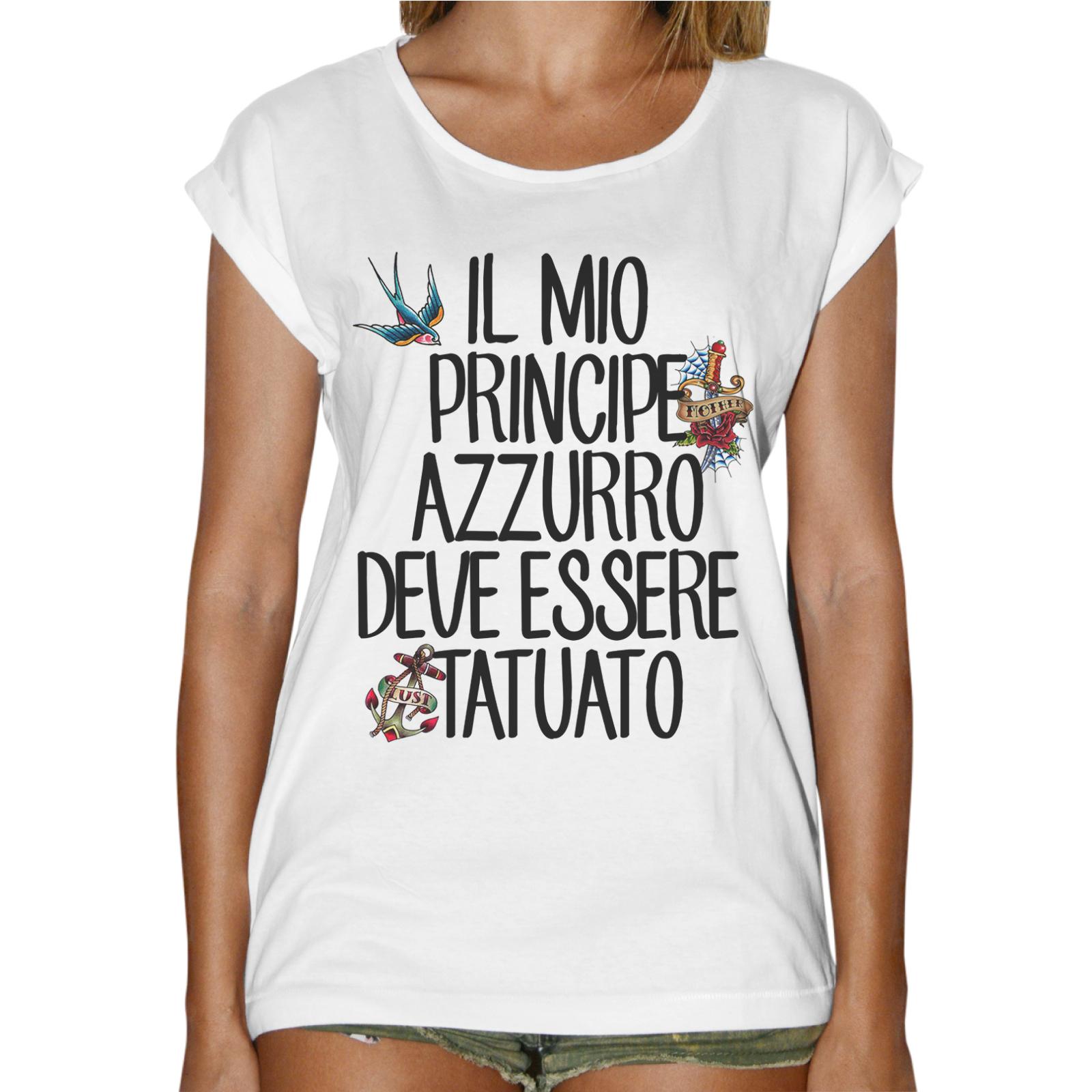T-Shirt Donna Fashion PRINCIPE TATUATO