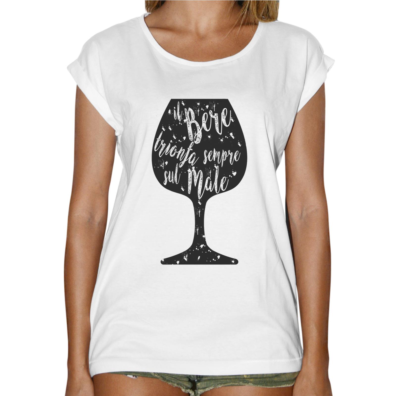 T-Shirt Donna Fashion IL BERE TRIONFA