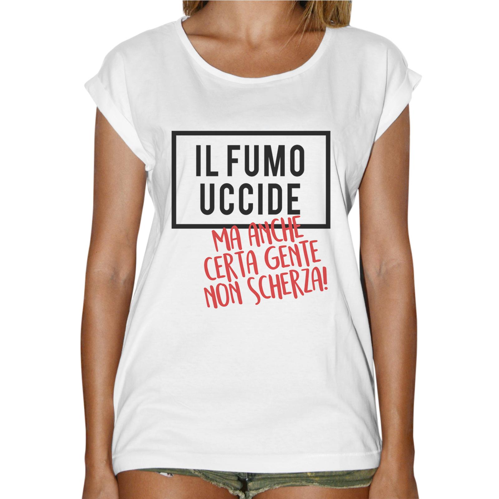 T-Shirt Donna Fashion IL FUMO UCCIDE