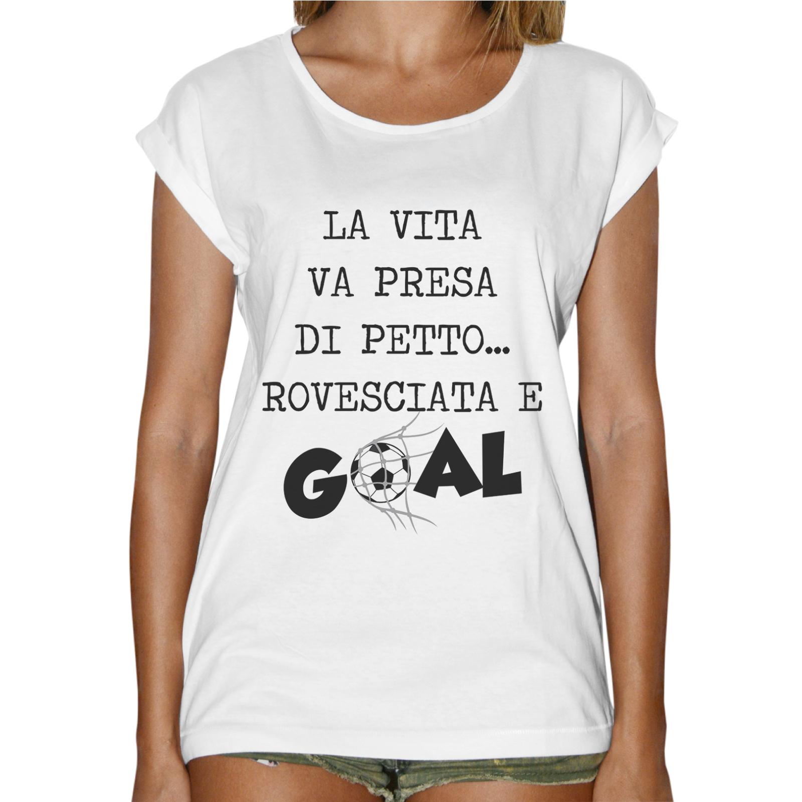 T-Shirt Donna Fashion PETTO ROVESCIATA GOAL