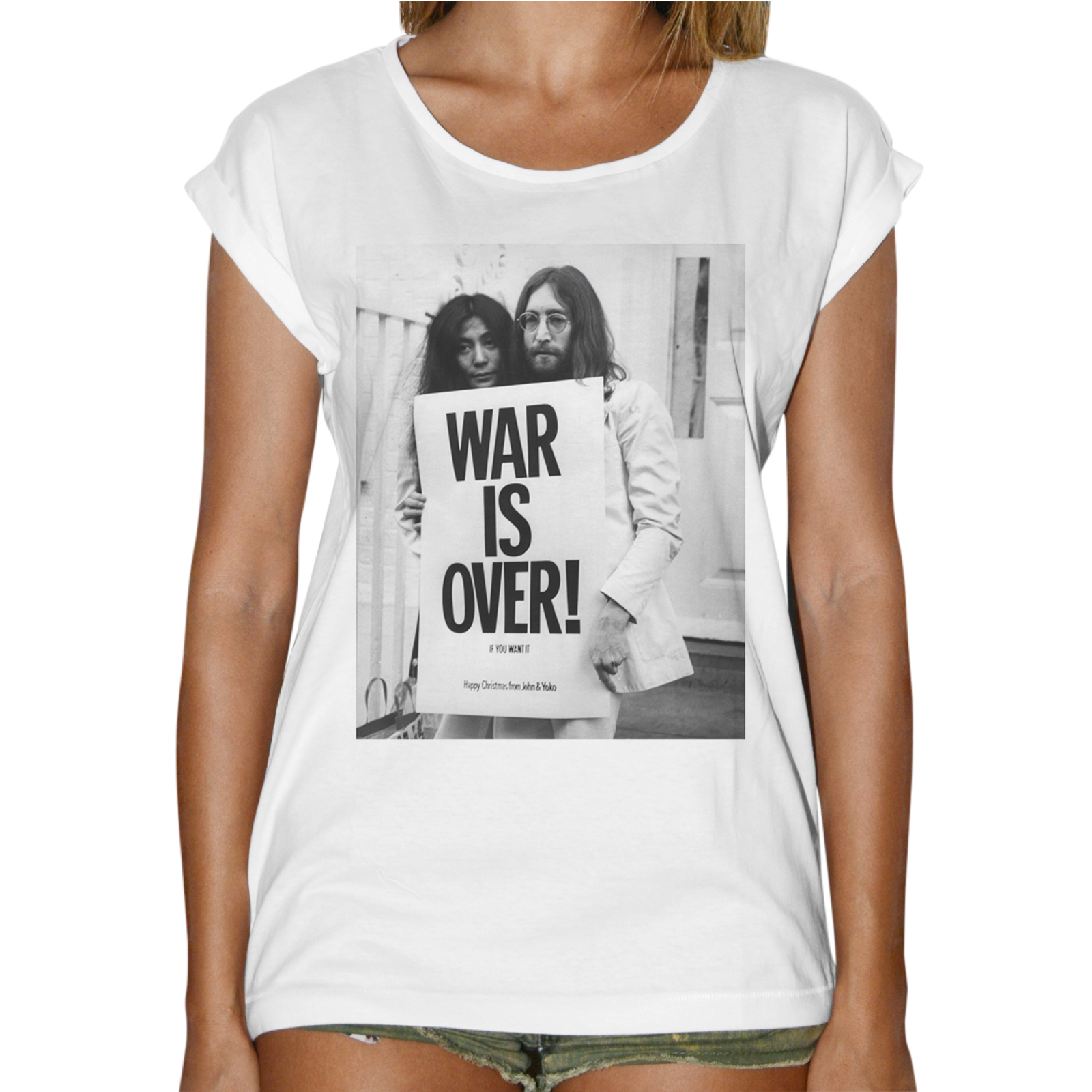 T-Shirt Donna Fashion WAR IS OVER