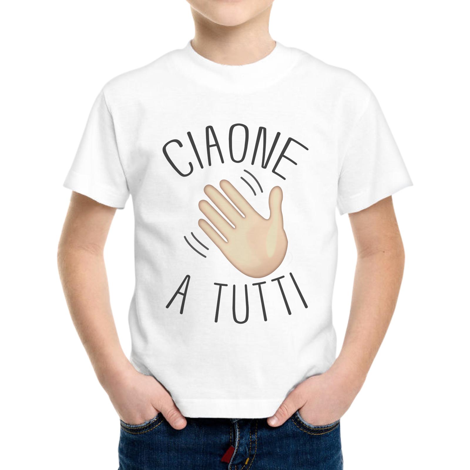T-Shirt Bambino CIAONE A TUTTI