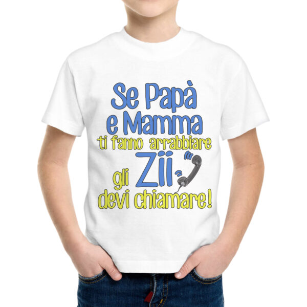T-Shirt Bambino GLI ZII DEVI CHIAMARE 1