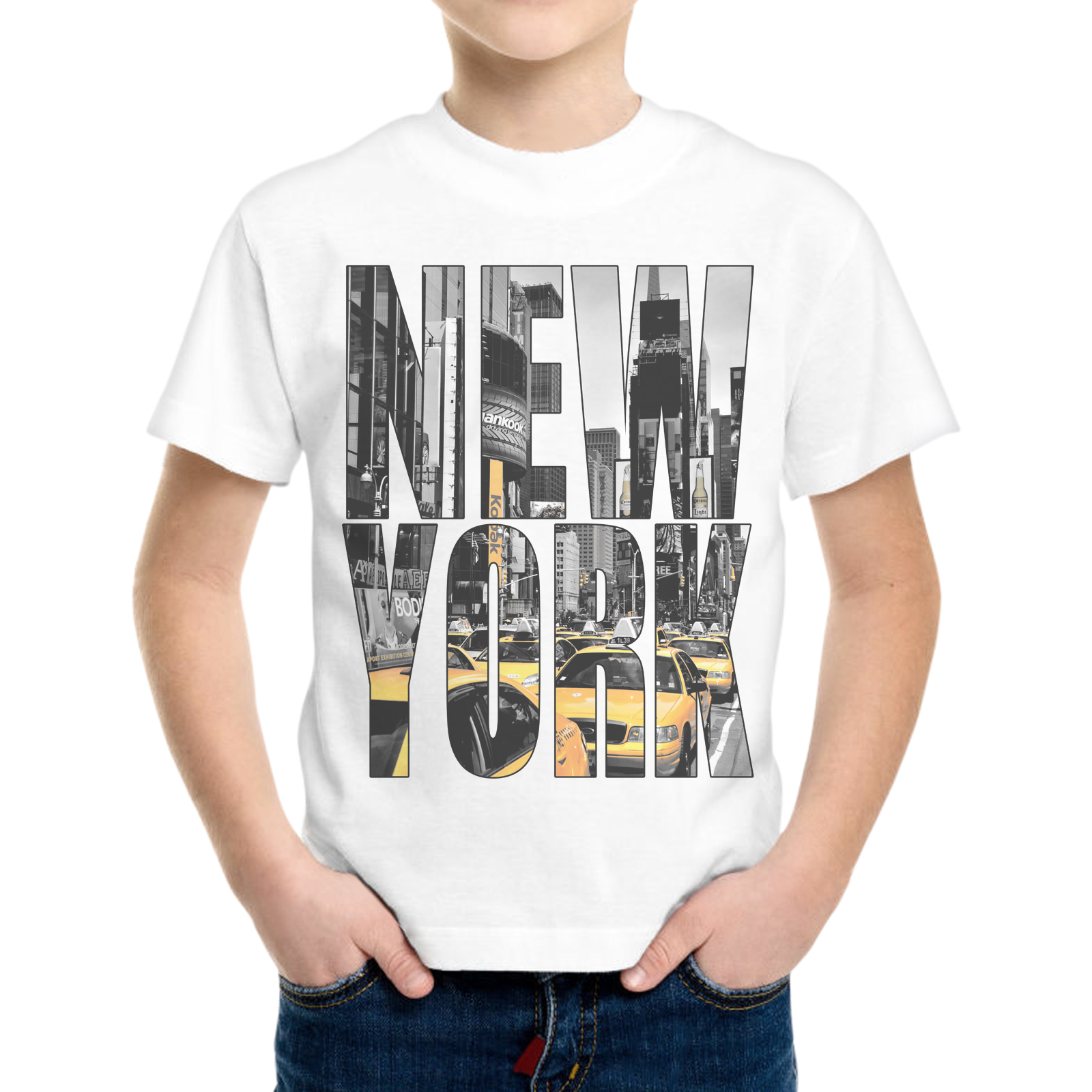 T-Shirt Bambino NEW YORK TAXI