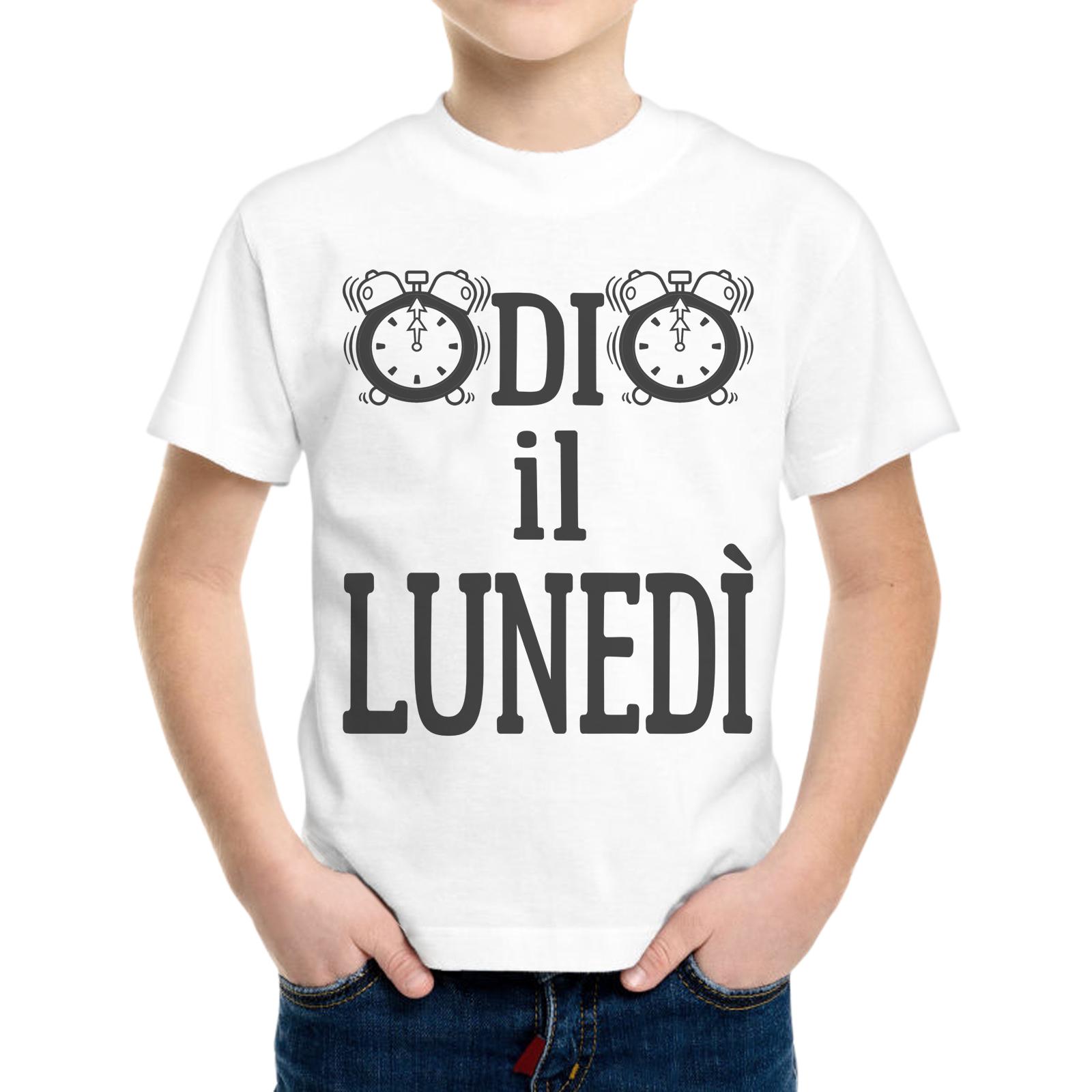 T-Shirt Bambino ODIO IL LUNEDI 1