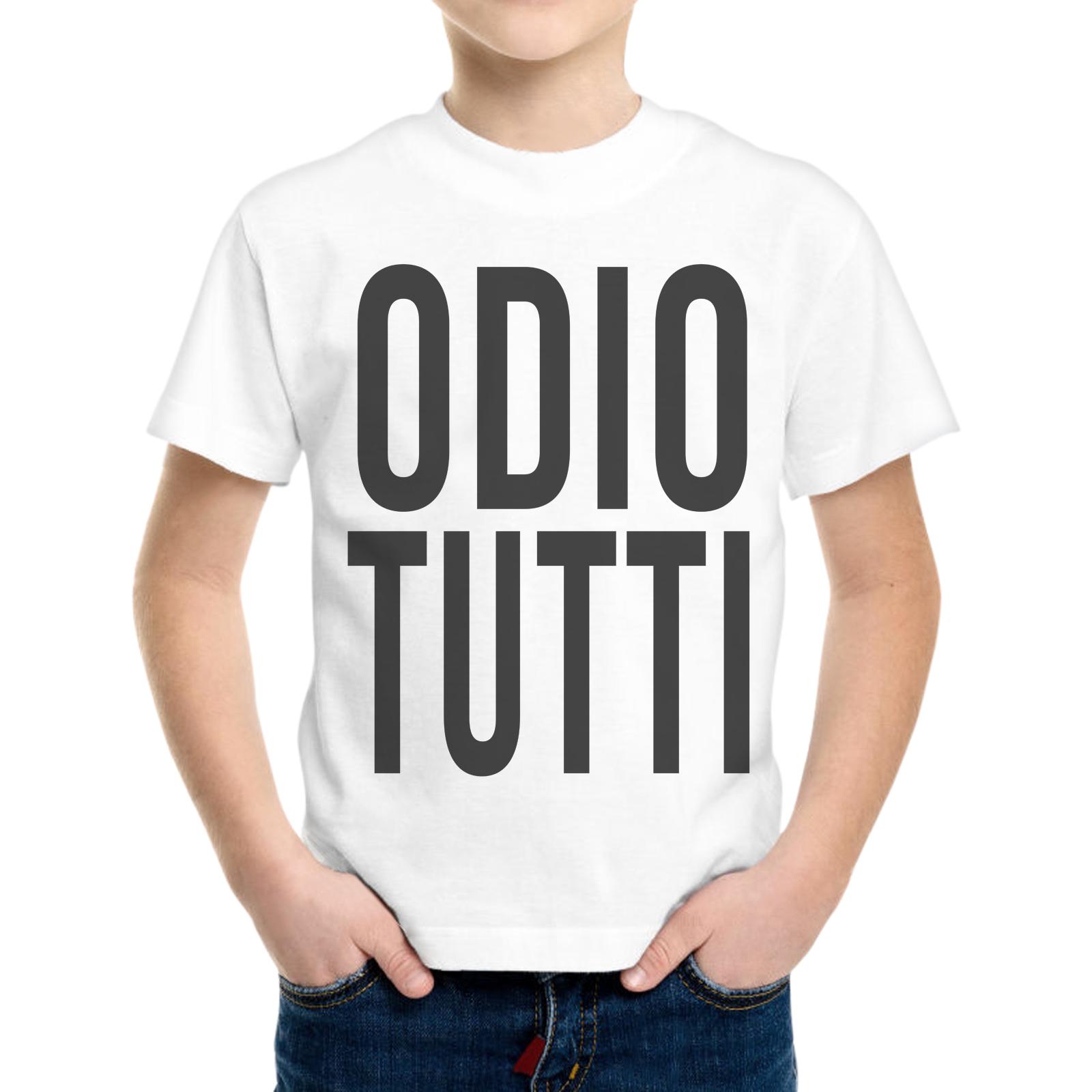 T-Shirt Bambino ODIO TUTTI