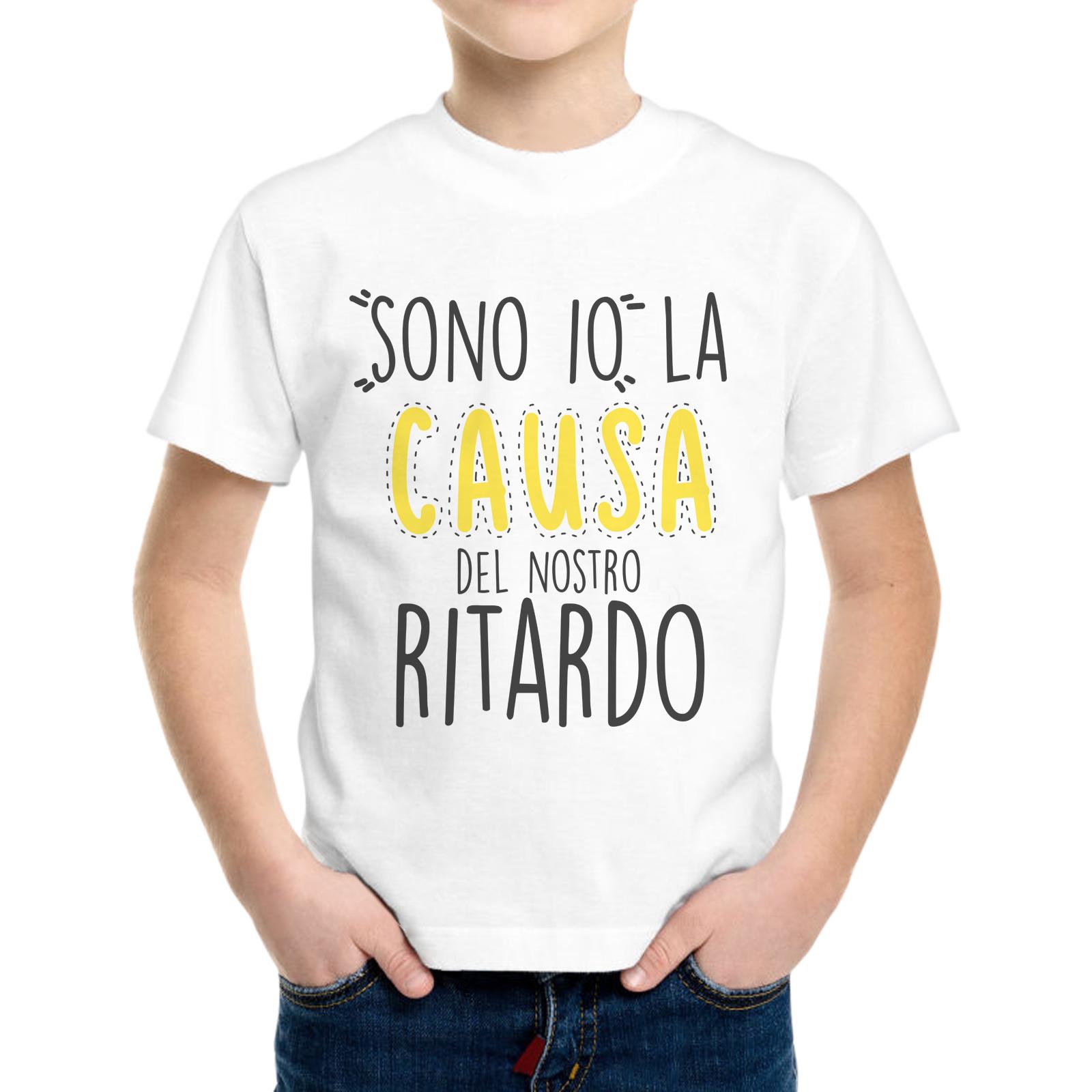 T-Shirt Bambino CAUSA DEL RITARDO 1