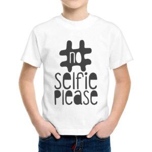 T-Shirt Bambino NO SELFIE